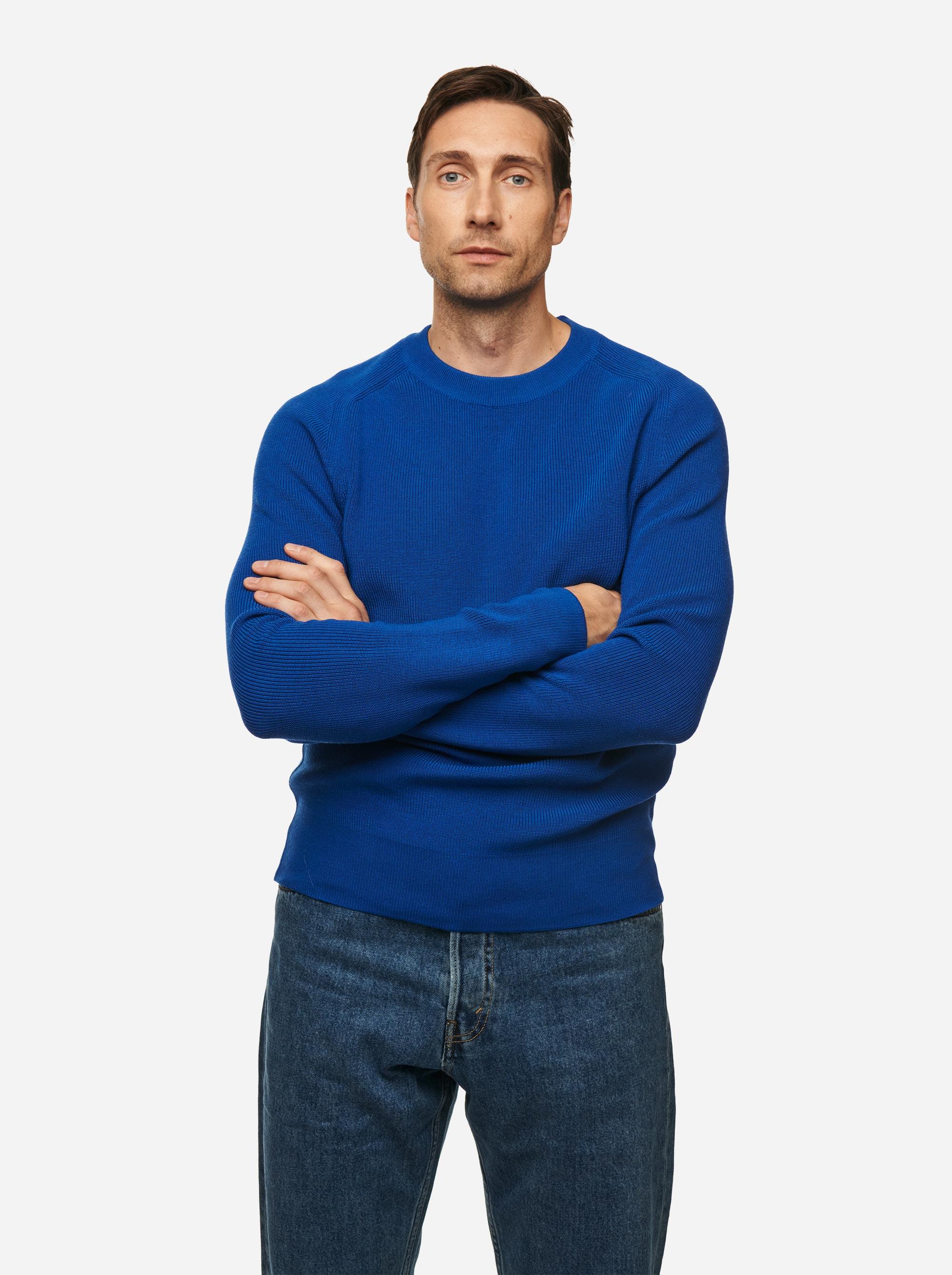 Teym - Crewneck - The Merino Sweater - Men - Cobalt blue - 1