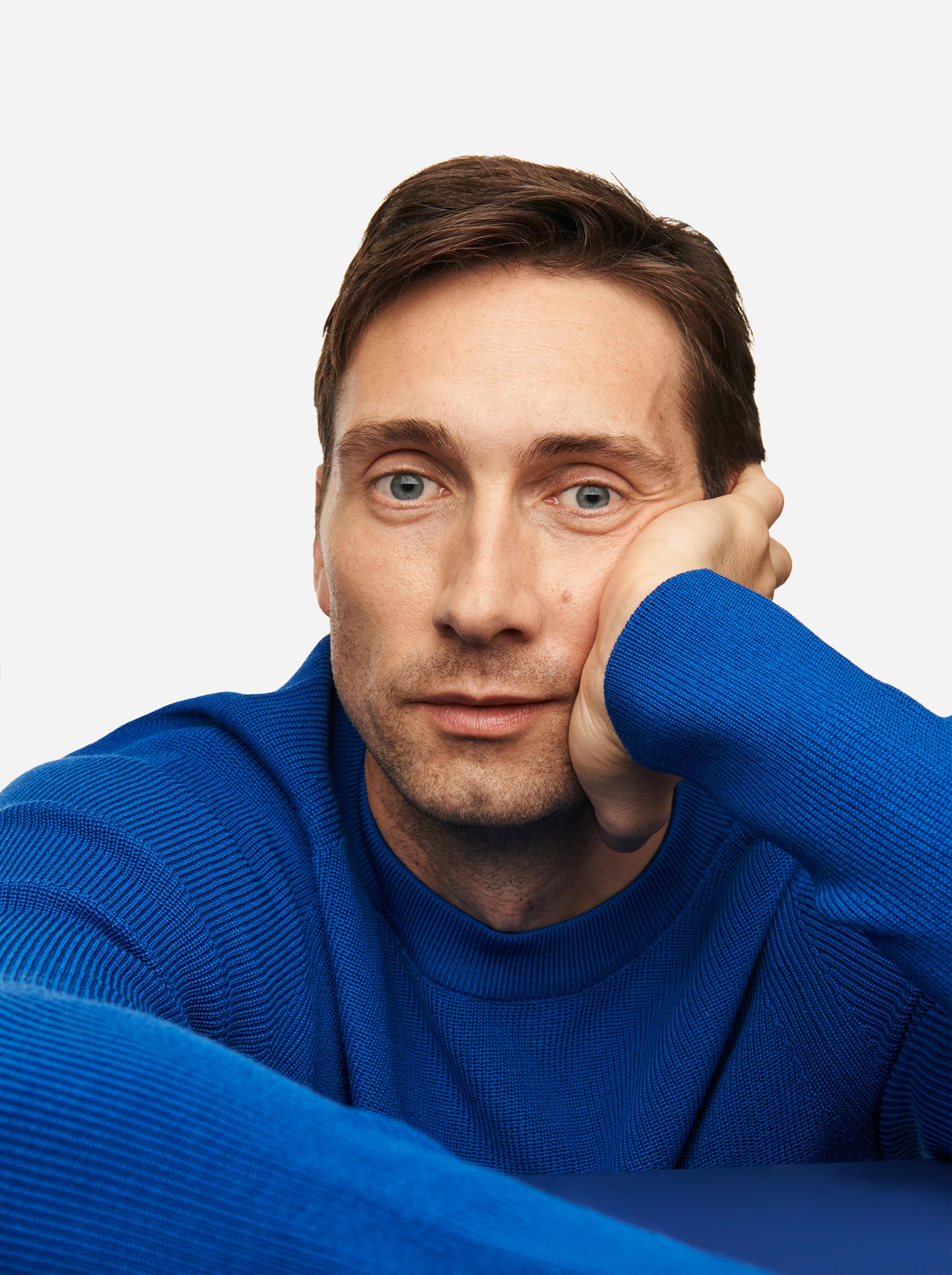 Teym - Crewneck - The Merino Sweater - Men - Cobalt blue - 2