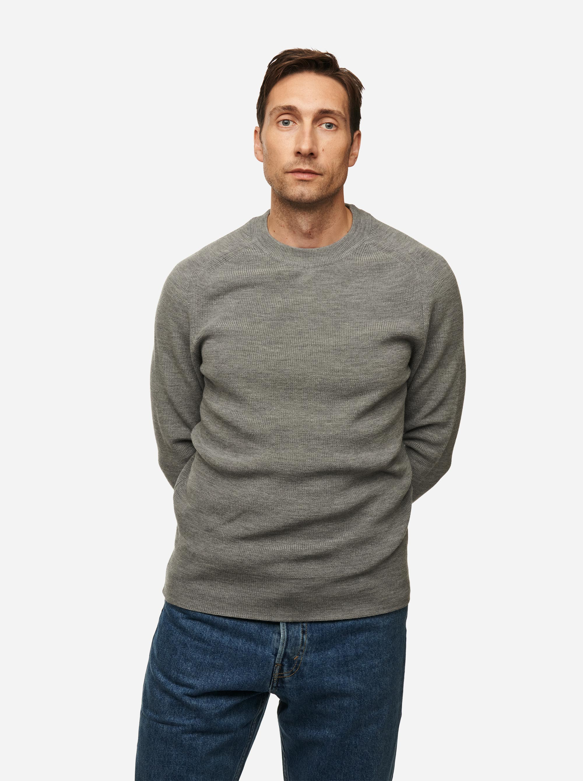 Teym - Crewneck - The Merino Sweater - Men - Grey - 1