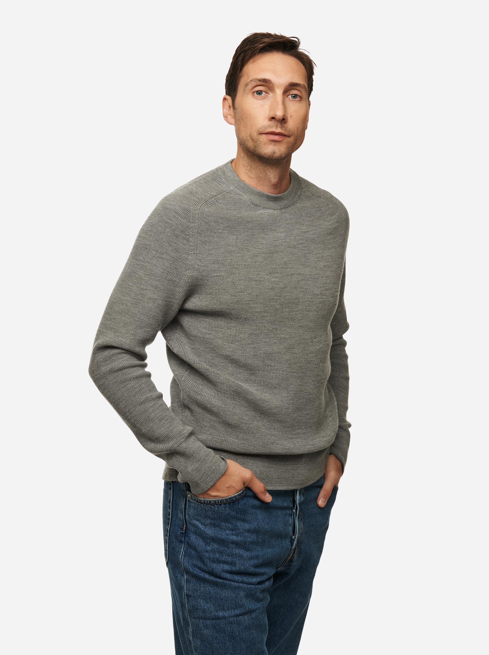 Teym - Crewneck - The Merino Sweater - Men - Grey - 4