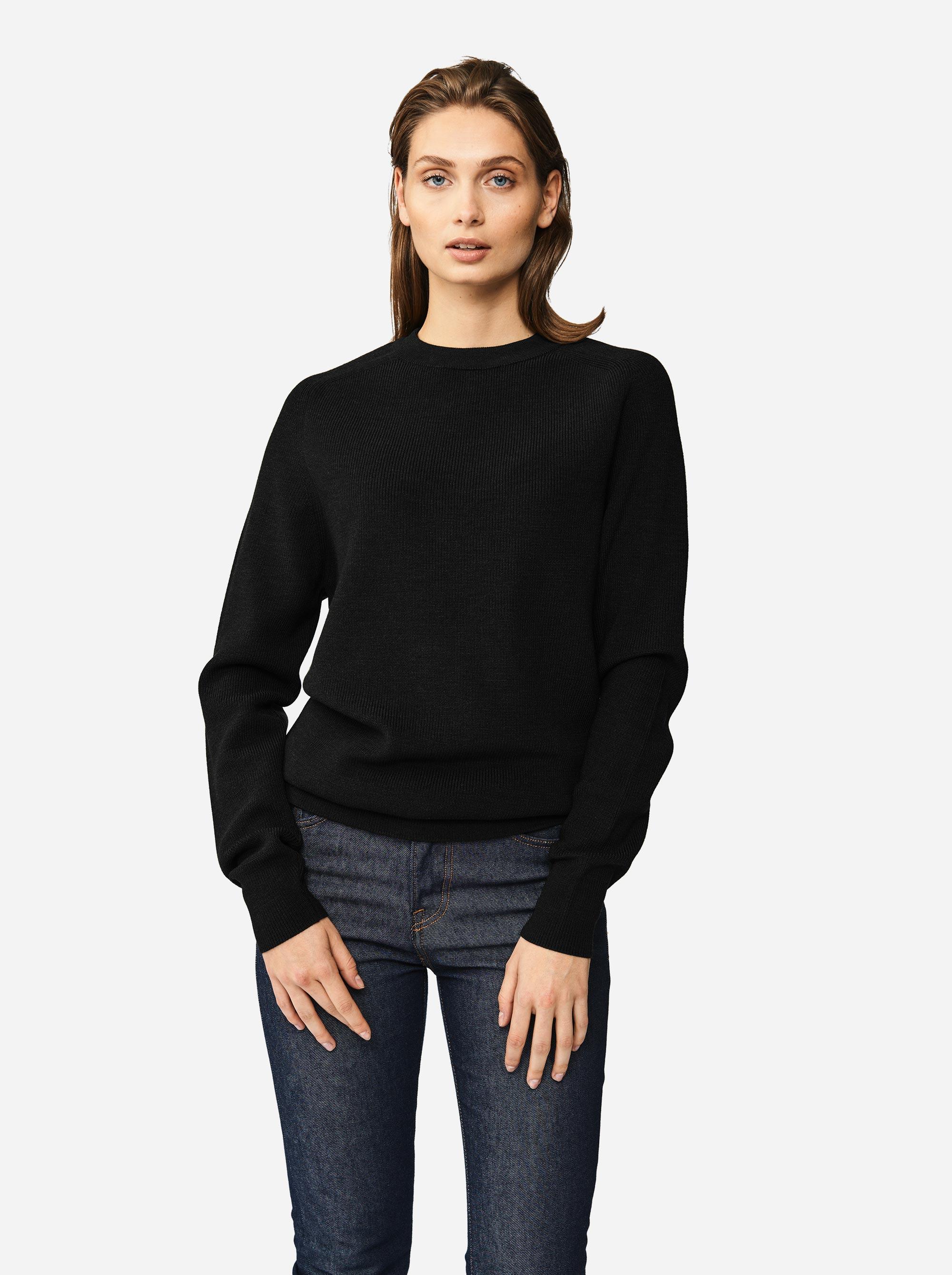 Teym - Crewneck - The Merino Sweater - Women - Black - 1