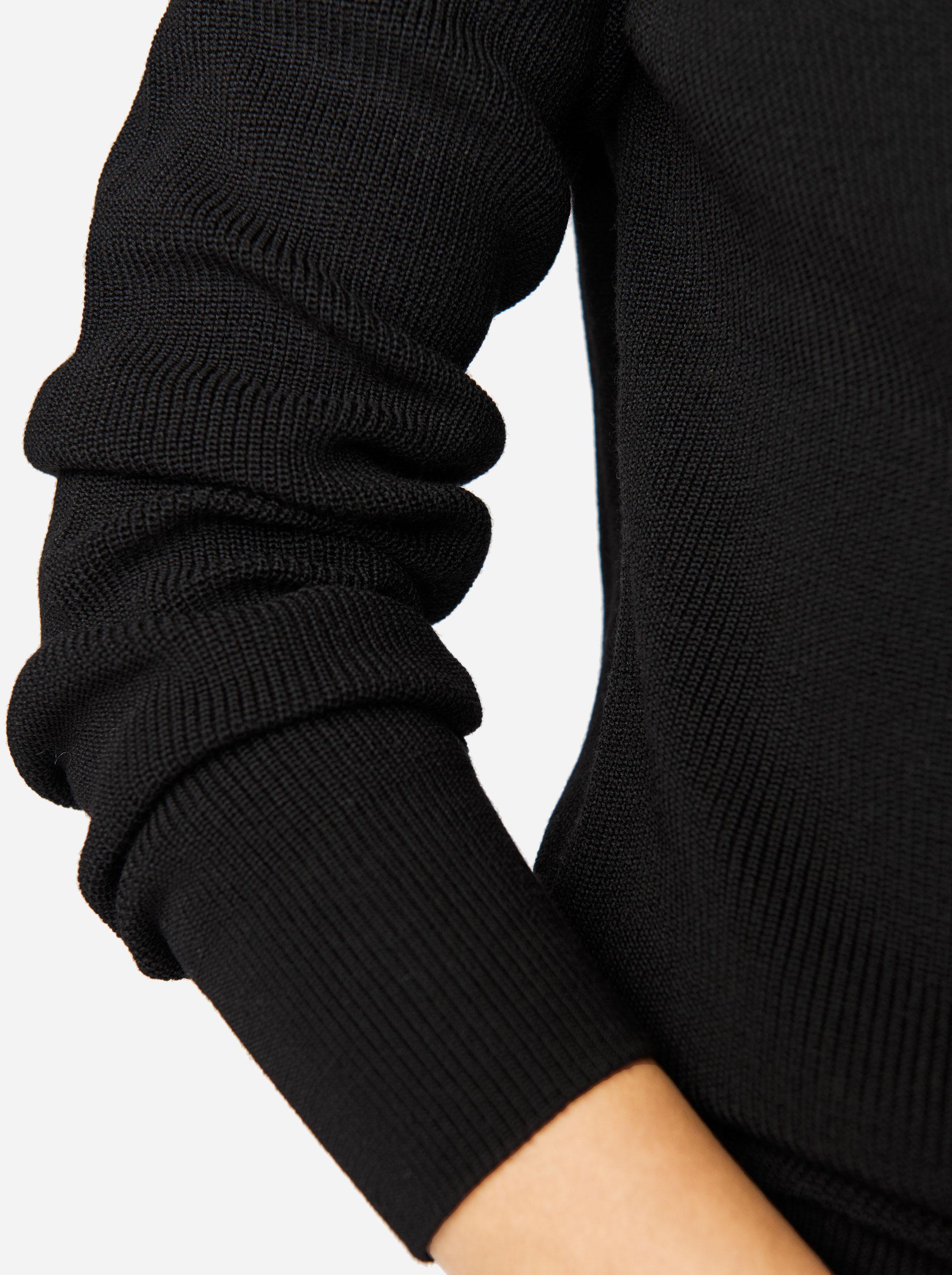 Teym - Crewneck - The Merino Sweater - Women - Black - 2