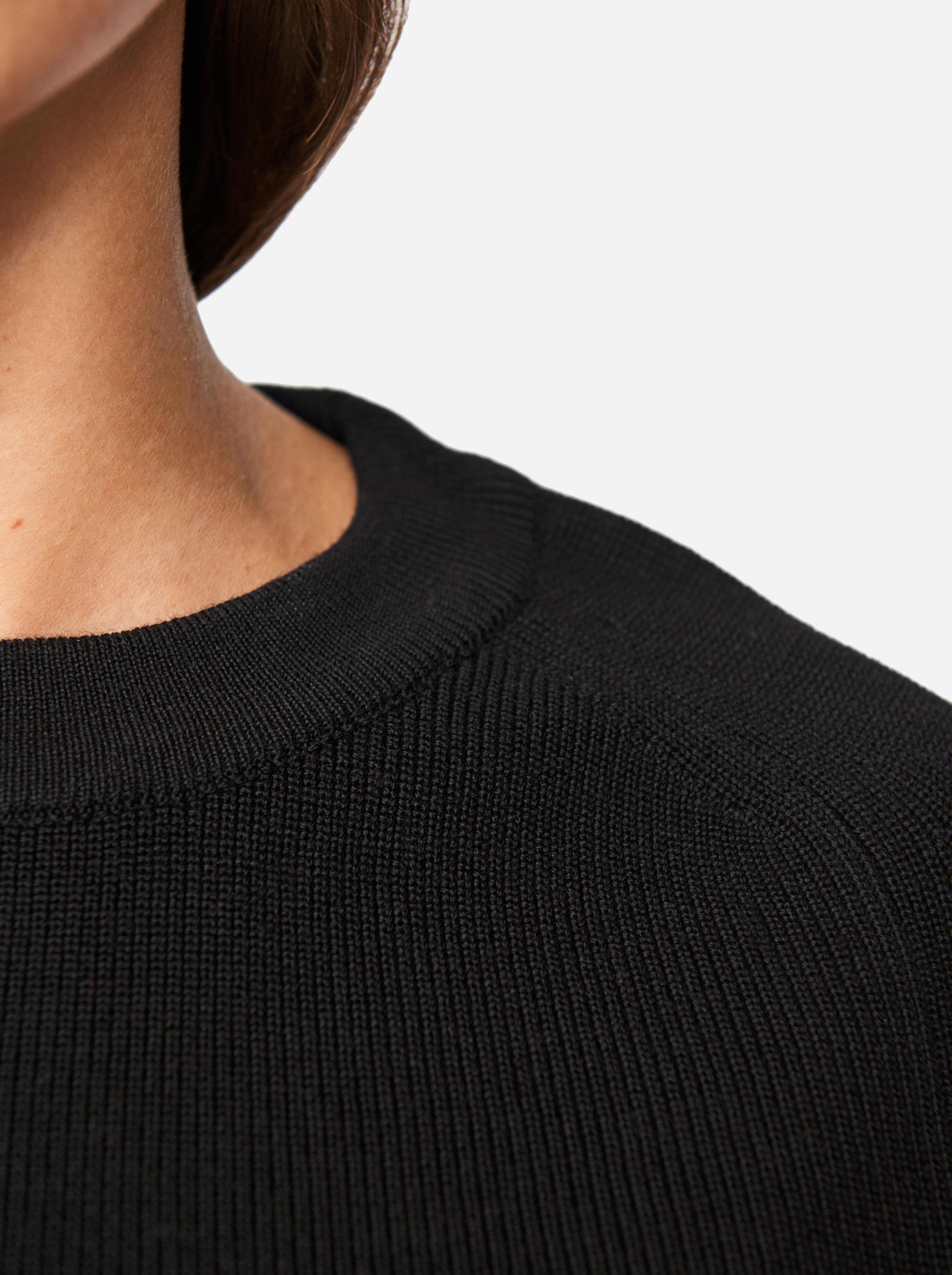 Teym - Crewneck - The Merino Sweater - Women - Black - 3