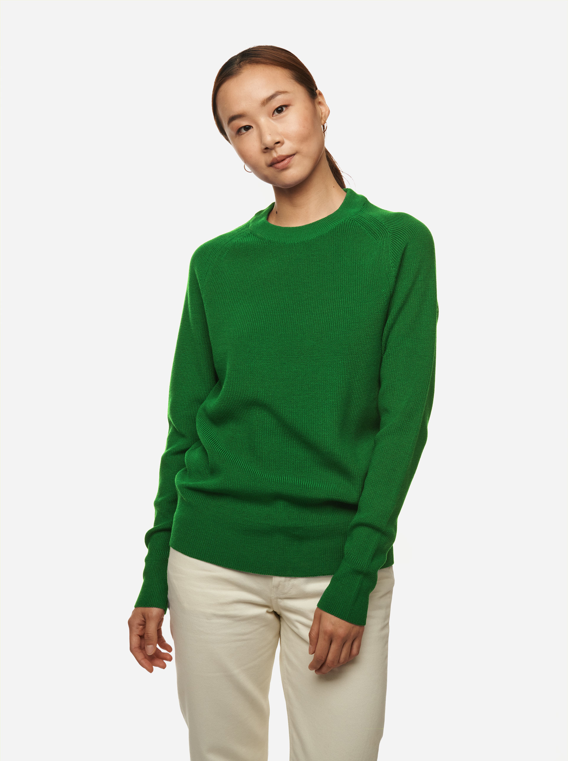Teym - Crewneck - The Merino Sweater - Women - Brigh Green - 2