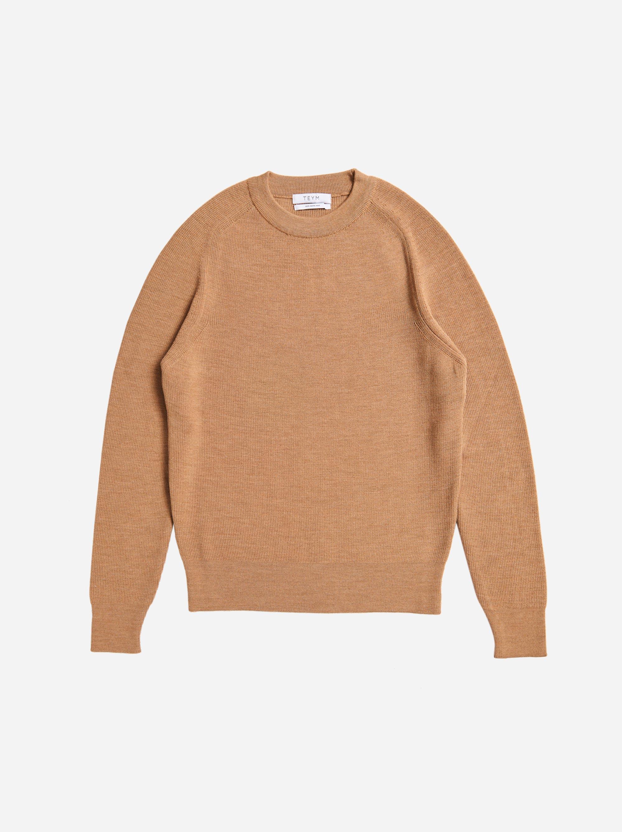 Teym - Crewneck - The Merino Sweater - Women - Camel - 4