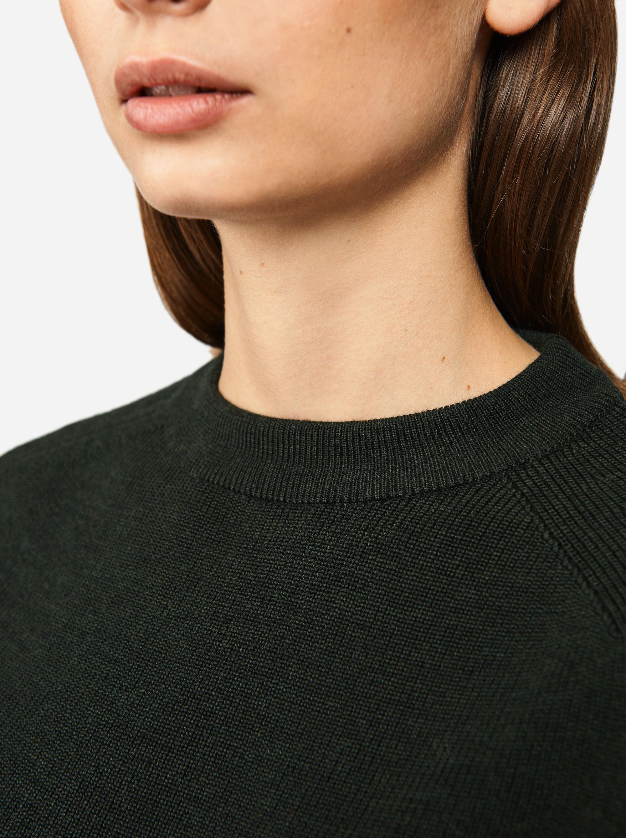 Teym - Crewneck - The Merino Sweater - Women - Green - 2
