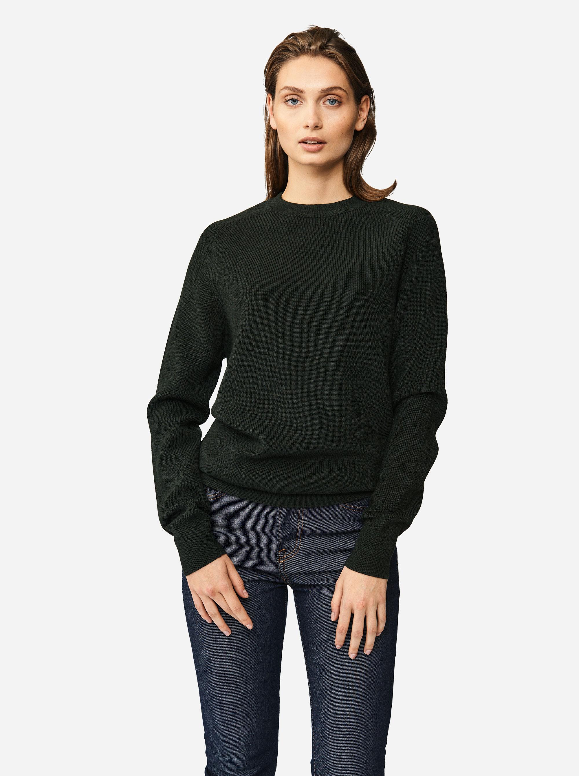 Teym - Crewneck - The Merino Sweater - Women - Green - 3