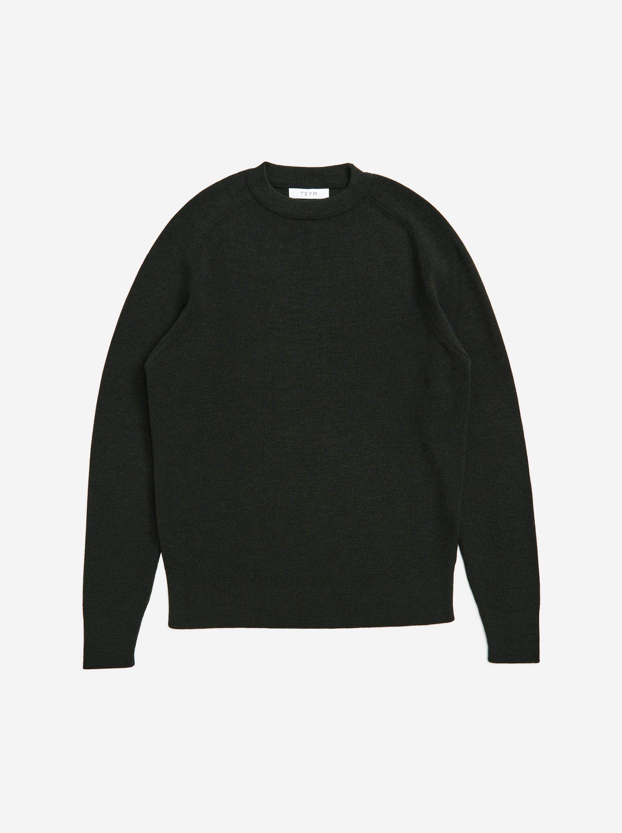 Teym - Crewneck - The Merino Sweater - Women - Green - 4