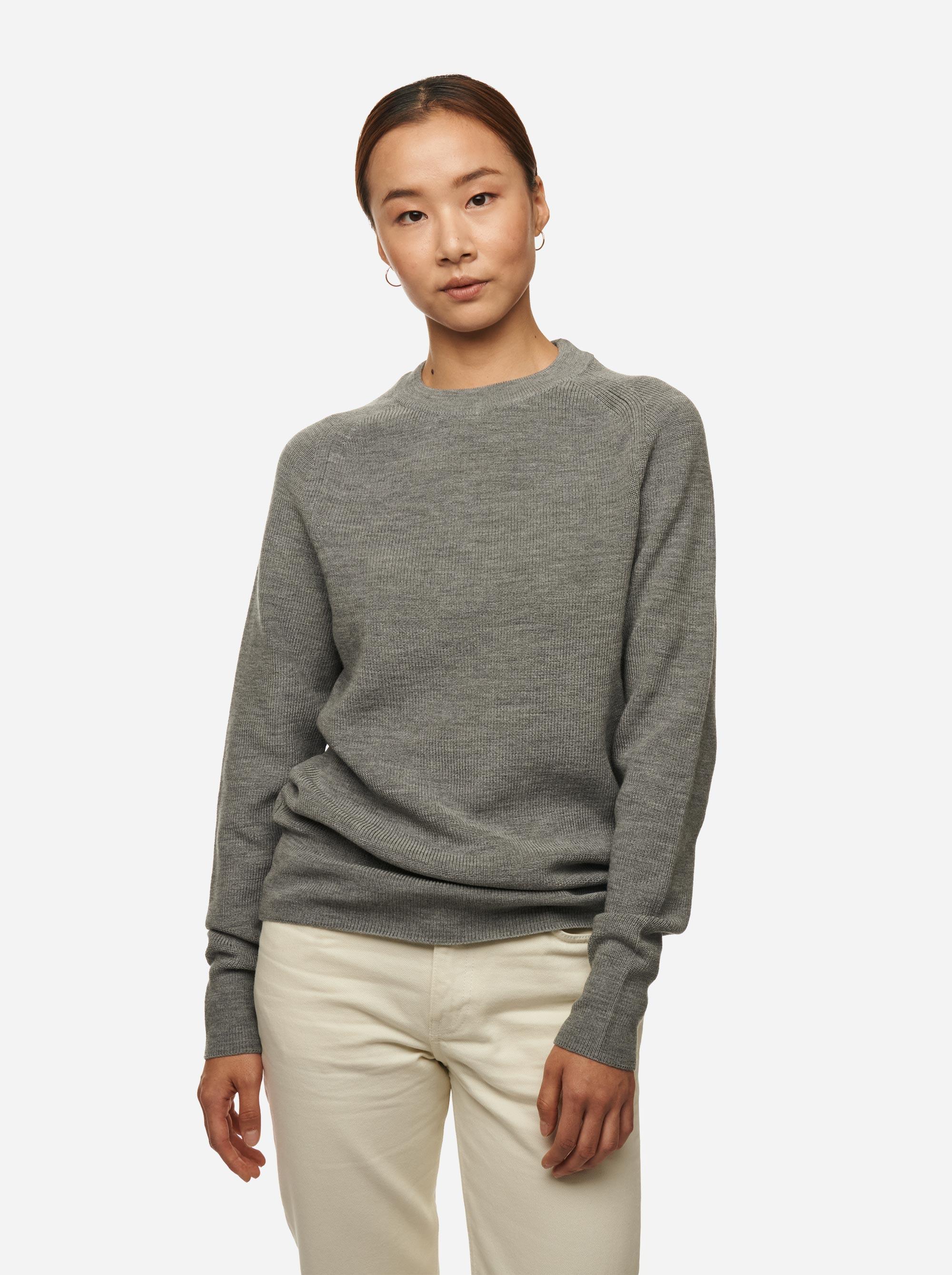 Teym - Crewneck - The Merino Sweater - Women - Grey - 4