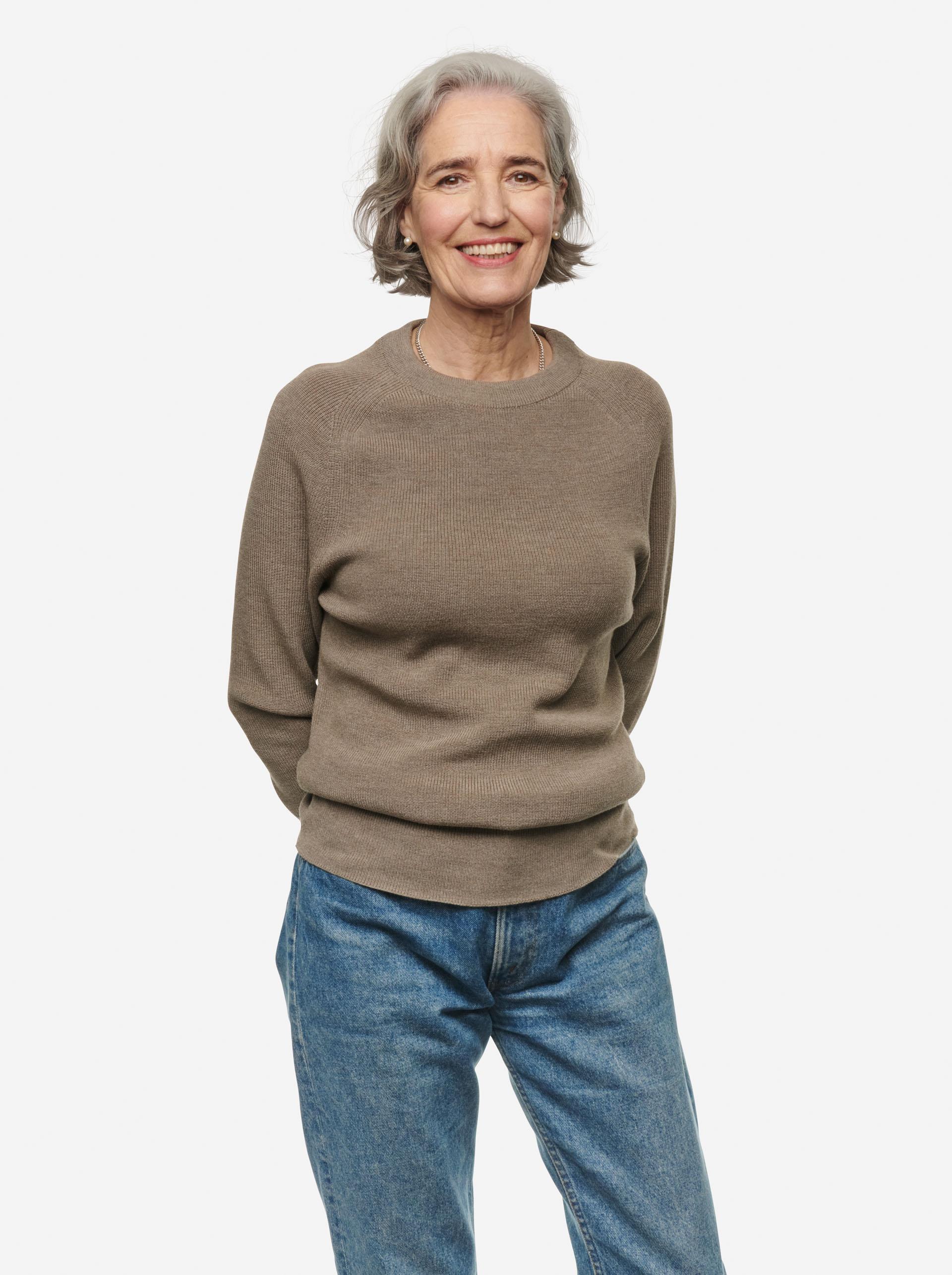 Teym - Crewneck - The Merino Sweater - Women - Grey - 5