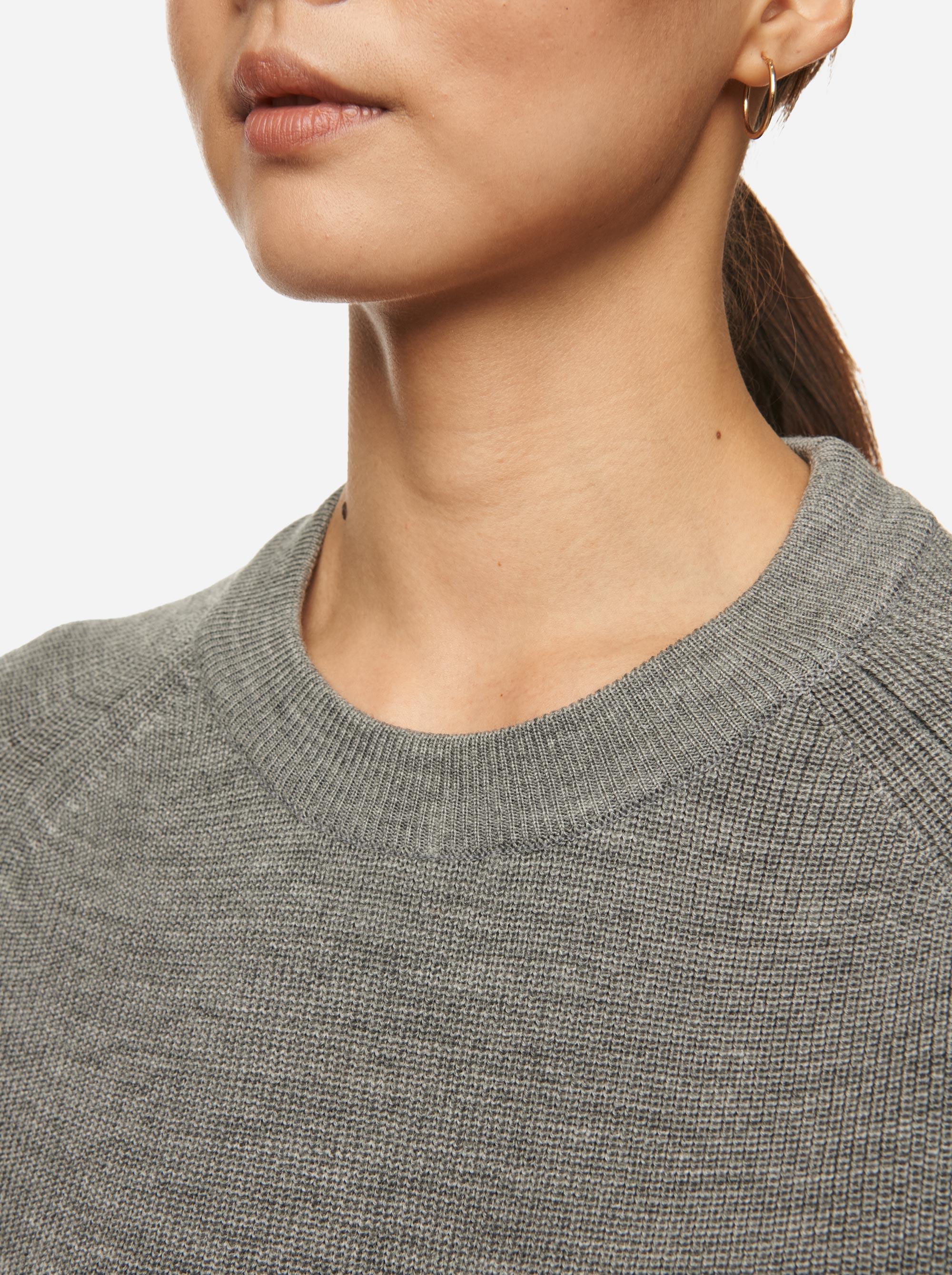 Teym - Crewneck - The Merino Sweater - Women - Grey - 6