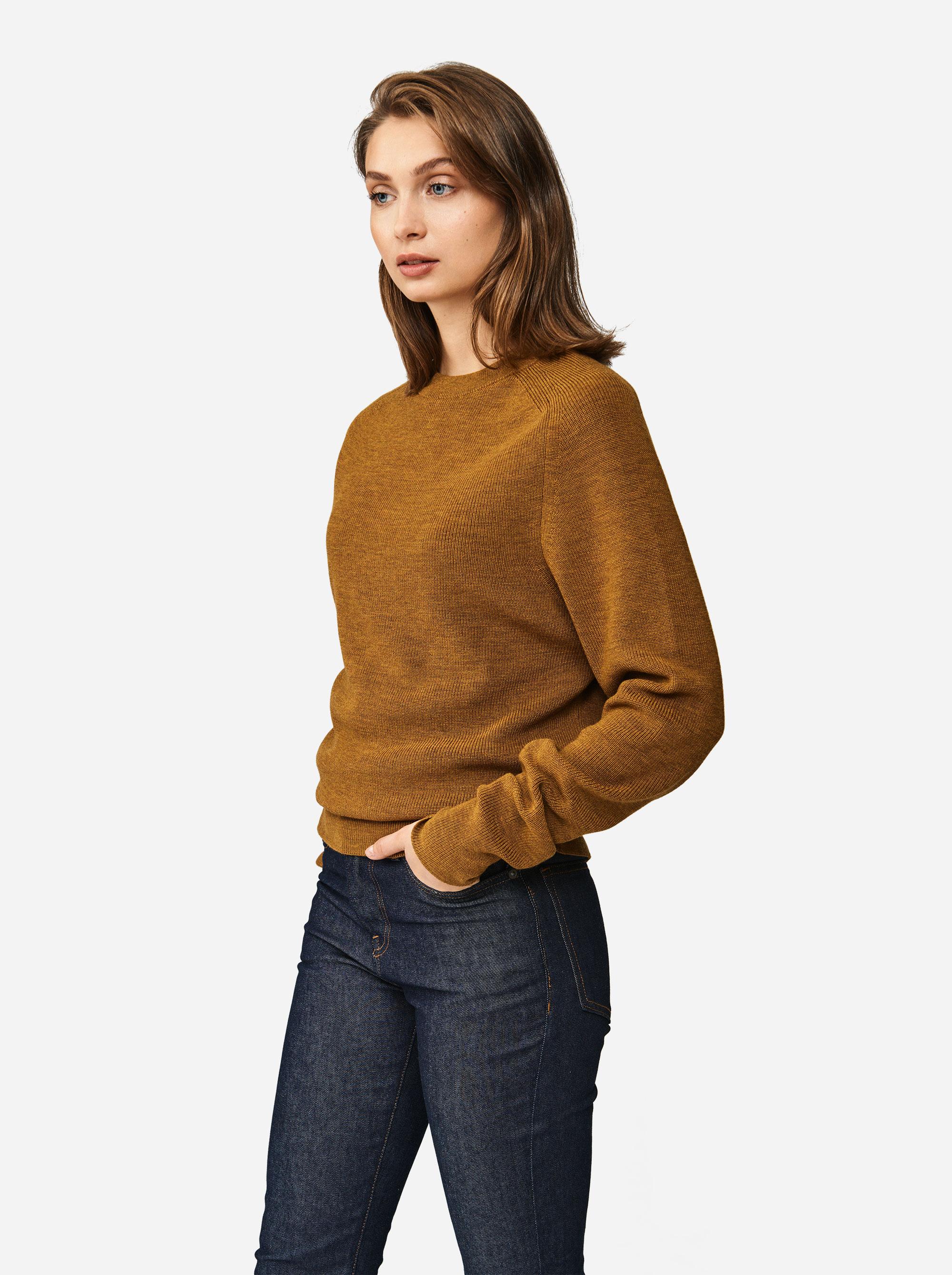 Teym - Crewneck - The Merino Sweater - Women - Mustard - 1