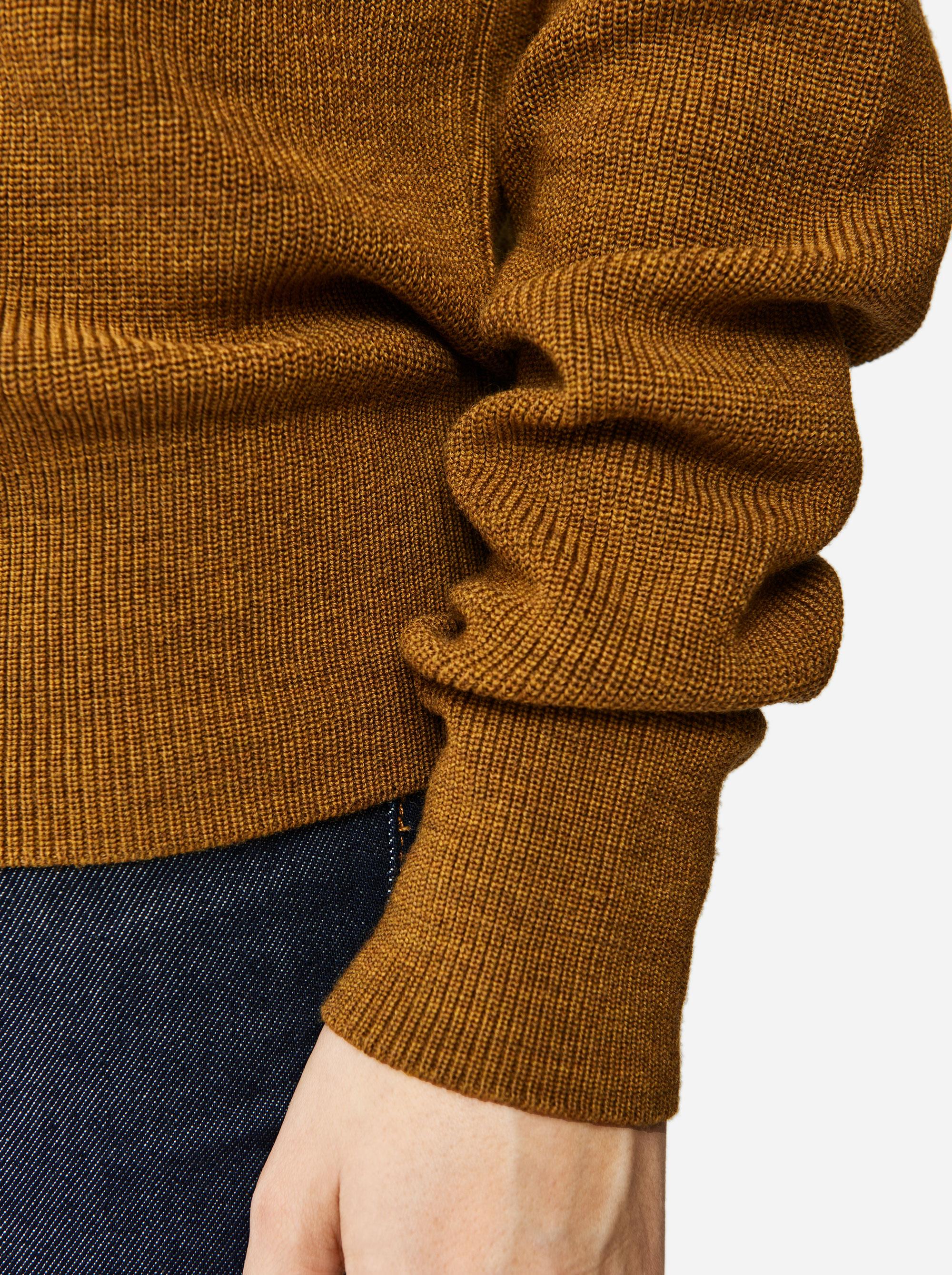 Teym - Crewneck - The Merino Sweater - Women - Mustard - 2