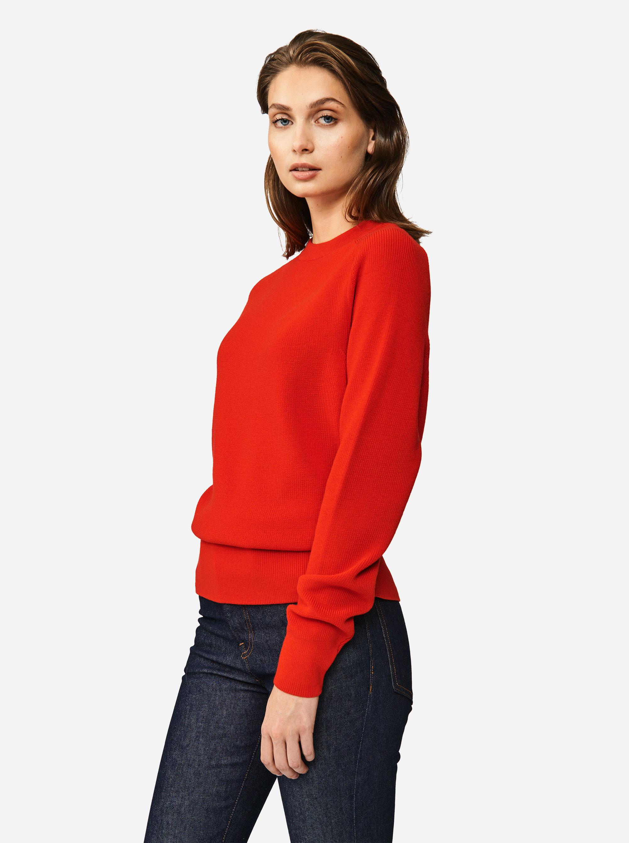 Teym - Crewneck - The Merino Sweater - Women - Red - 1