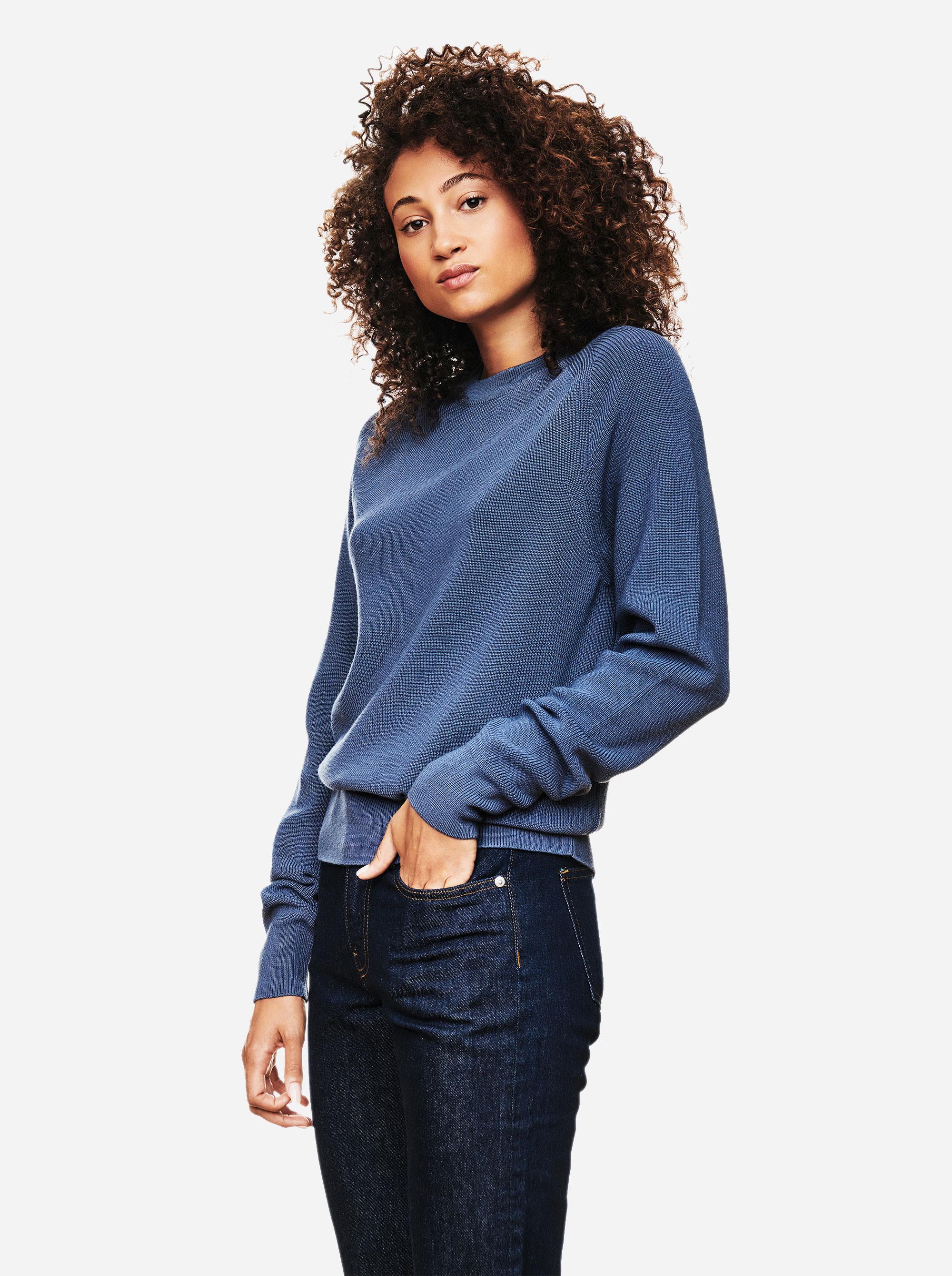 Teym - Crewneck - The Merino Sweater - Women - Sky blue - 2