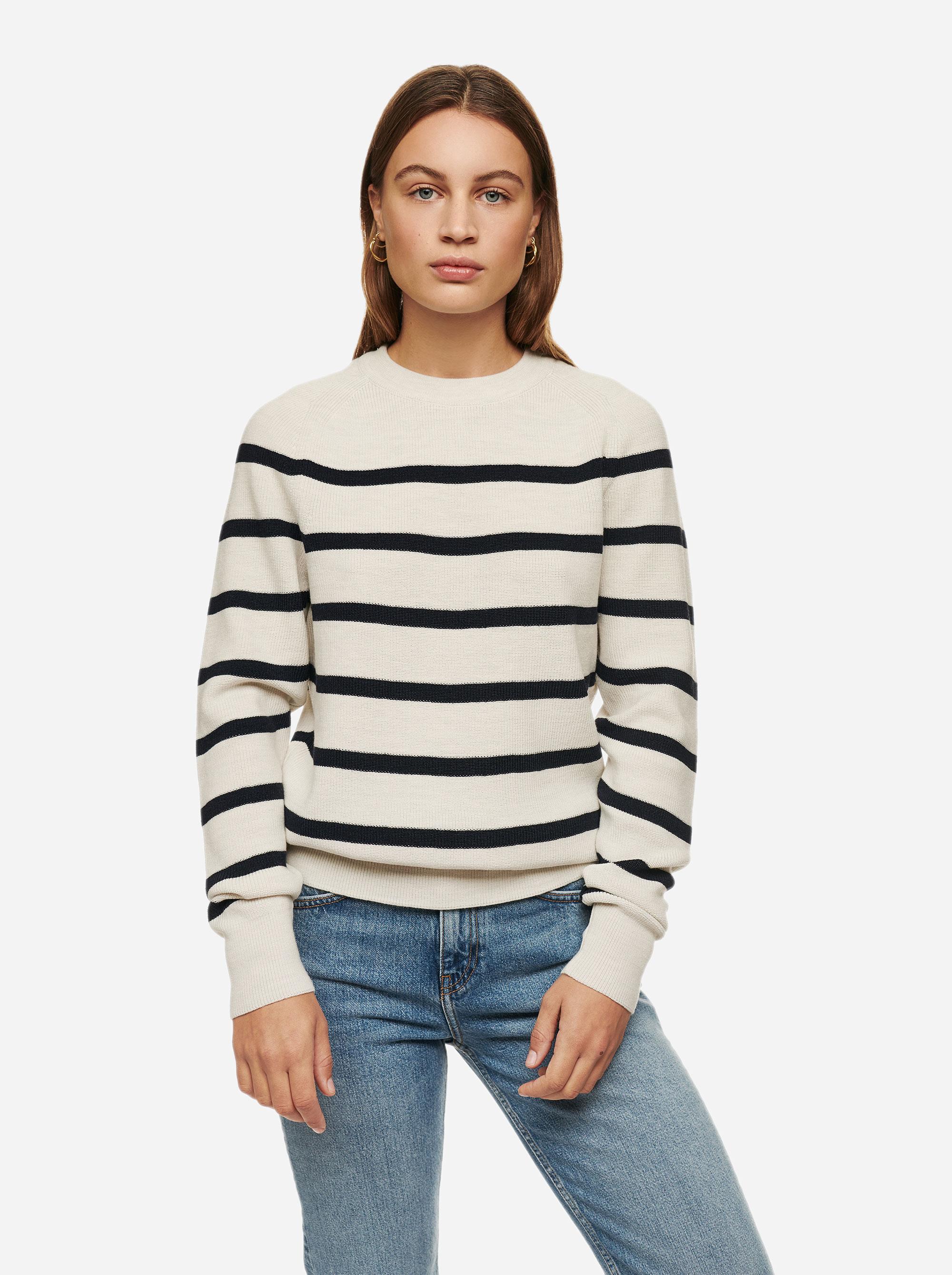Teym - Crewneck - The Merino Sweater - Women - Striped - 3