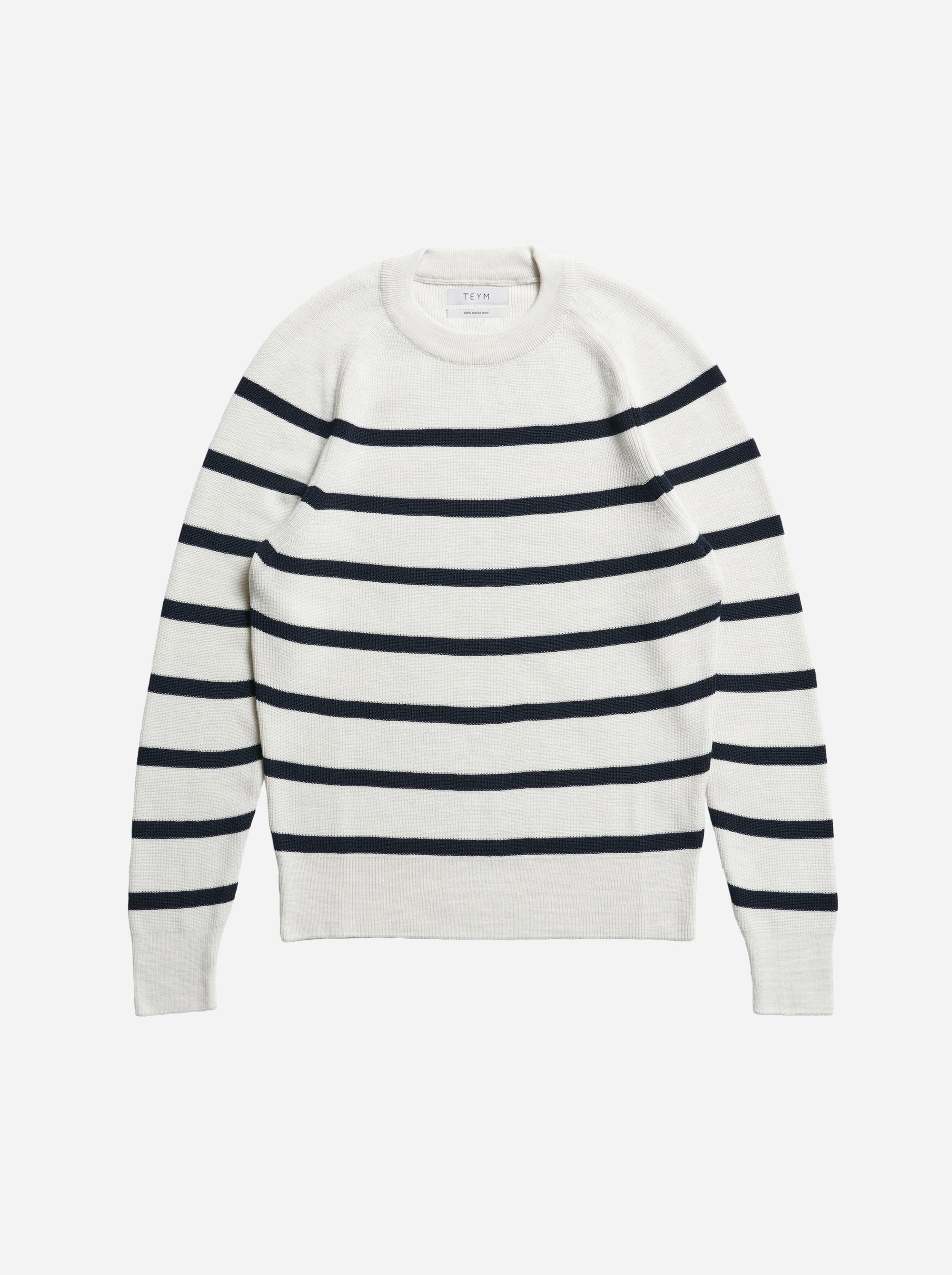 Teym - Crewneck - The Merino Sweater - Women - Striped - 4