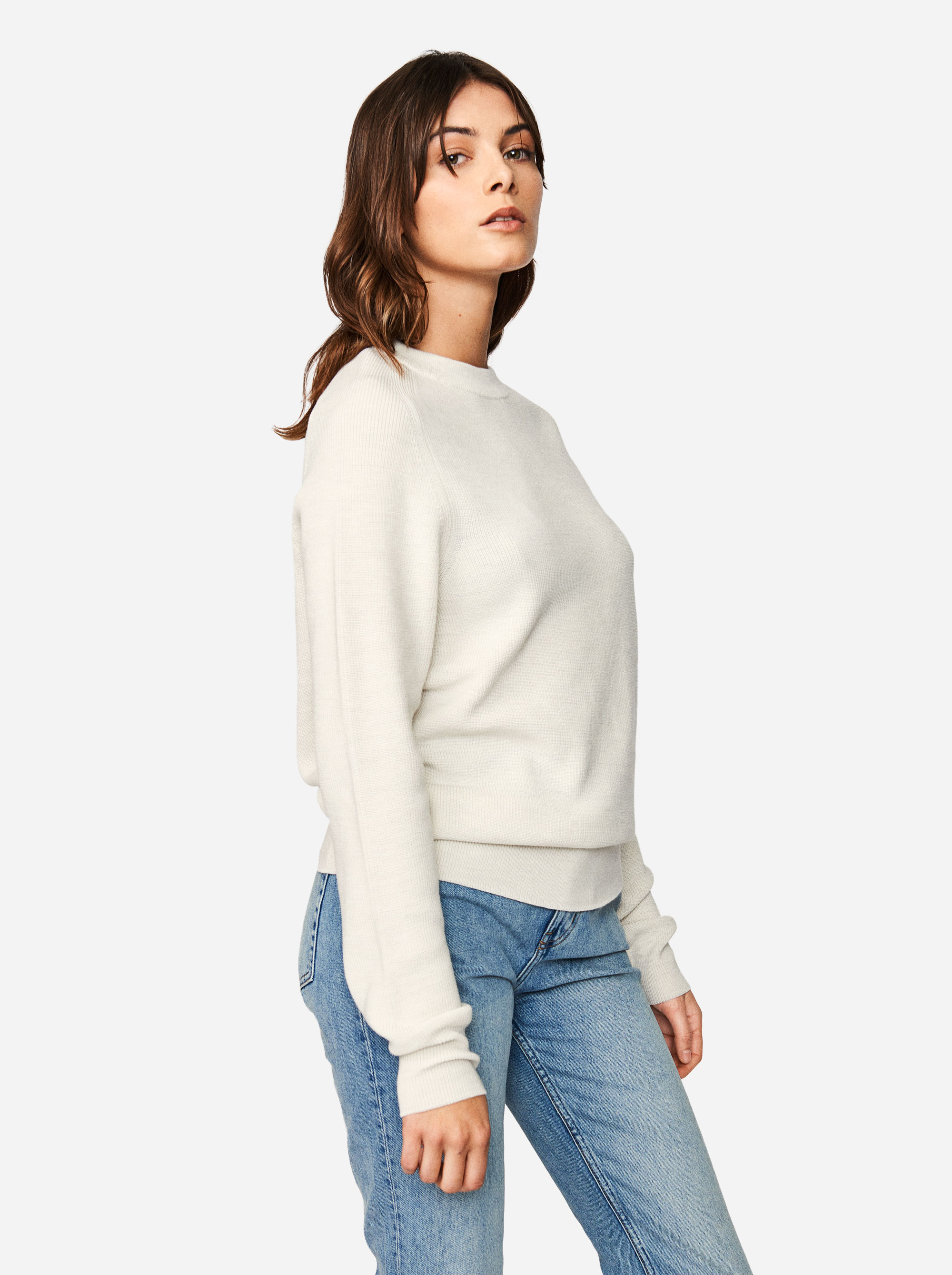 Teym - Crewneck - The Merino Sweater - Women - White - 1