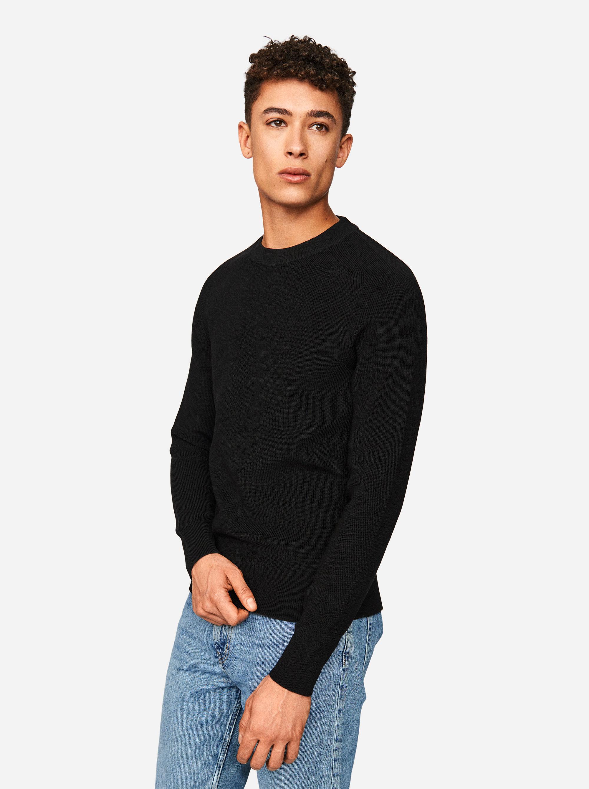 Teym - The Merino Sweater - Men - Black - 1