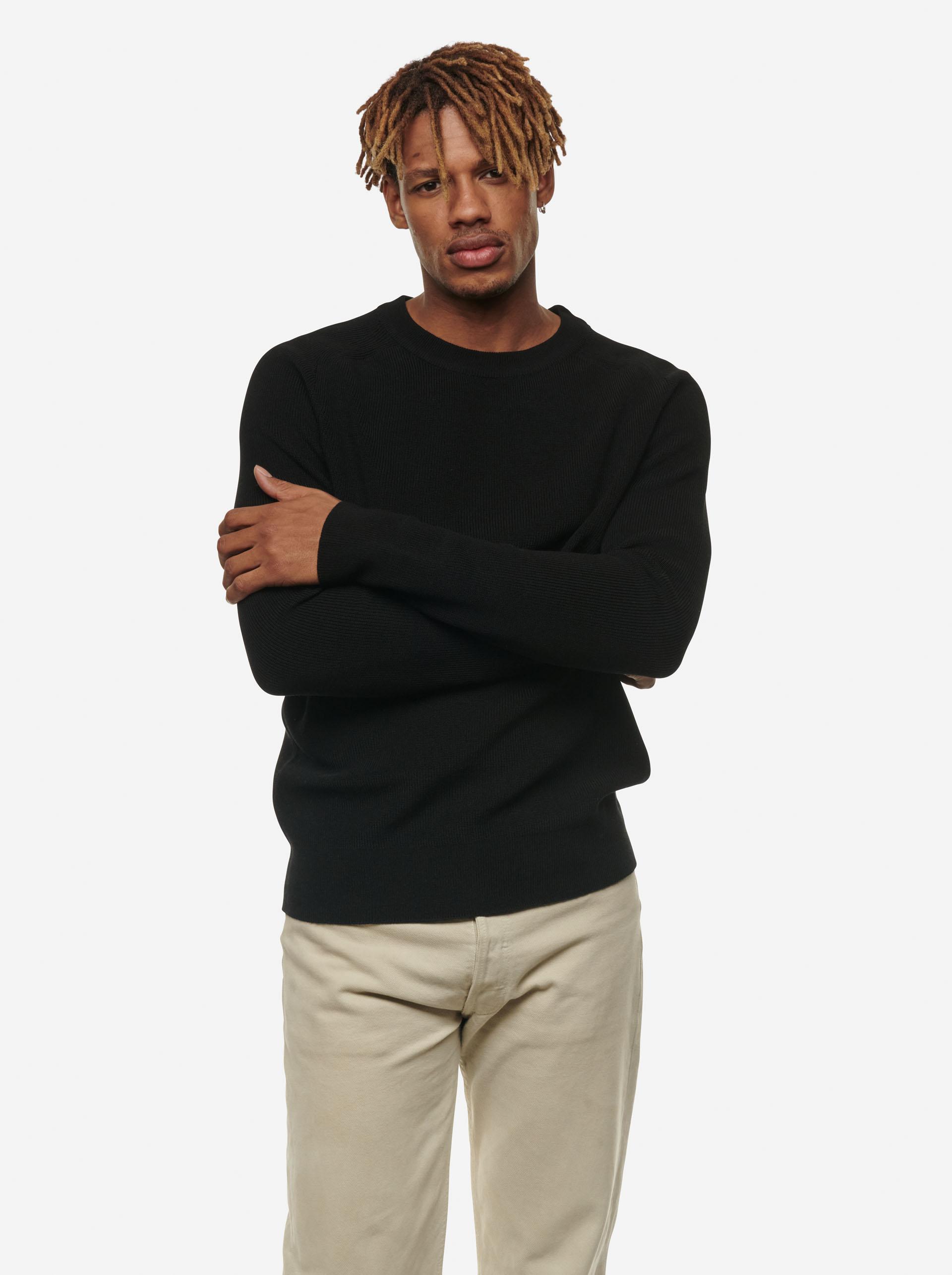 Teym - The Merino Sweater - Men - Black - 7