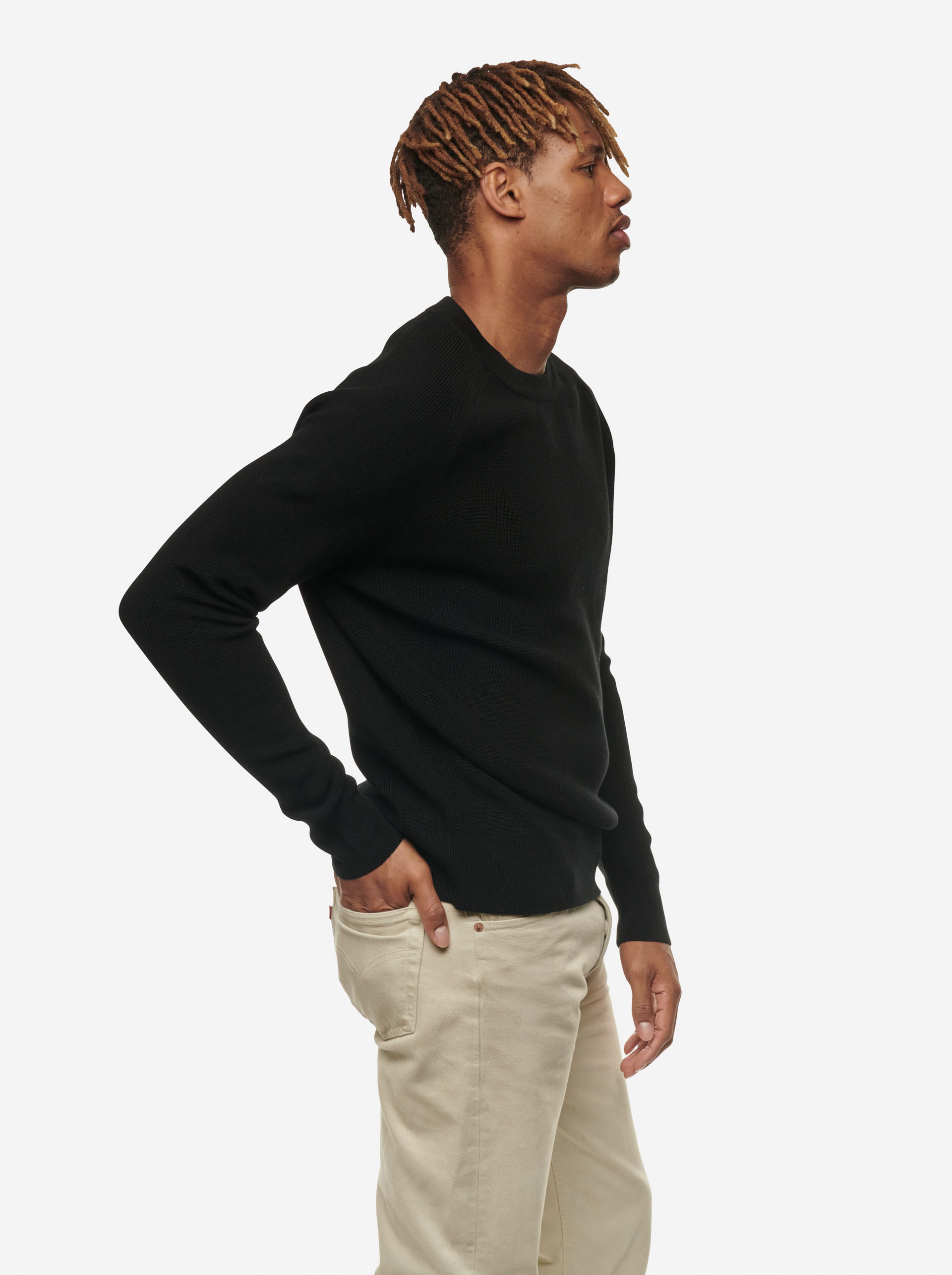 Teym - The Merino Sweater - Men - Black - 8