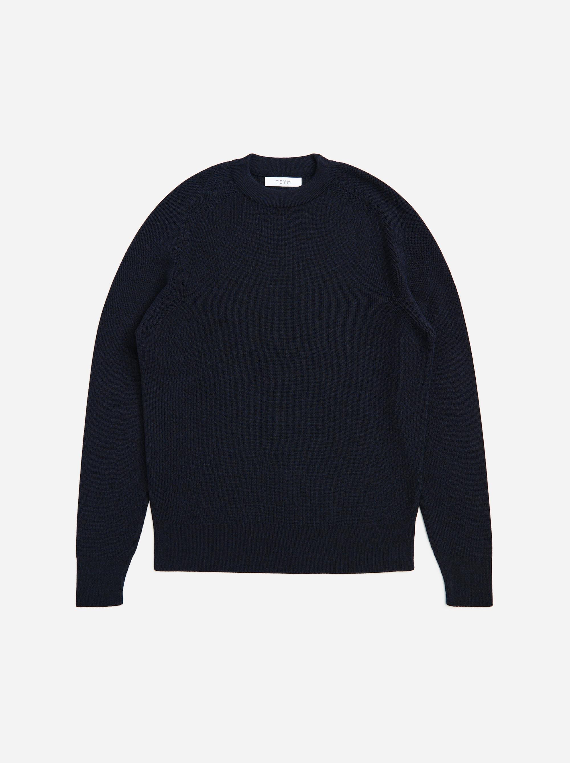 Teym - The Merino Sweater - Men - Blue - 5