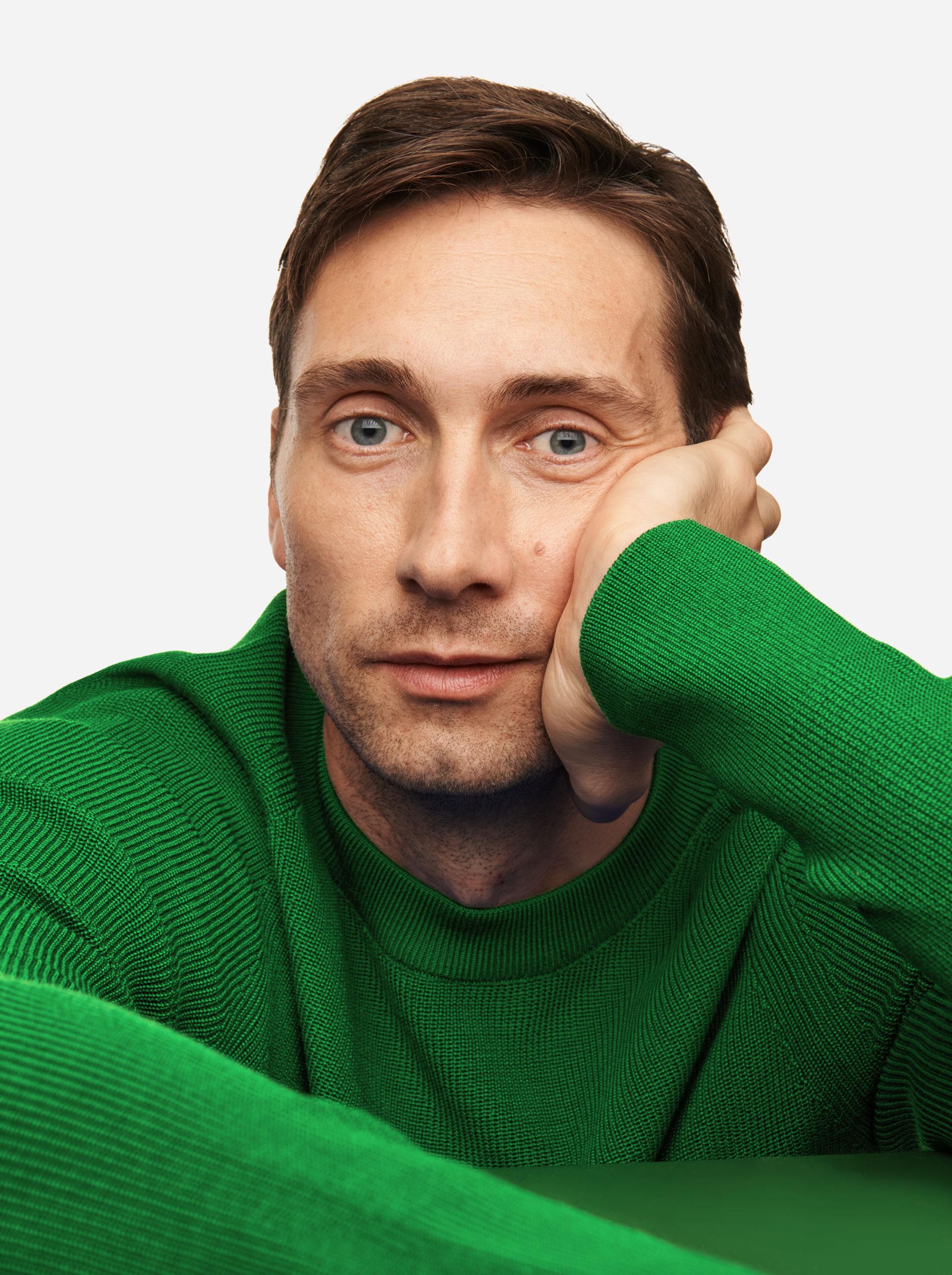Teym - The Merino Sweater - Men - Bright Green - 2