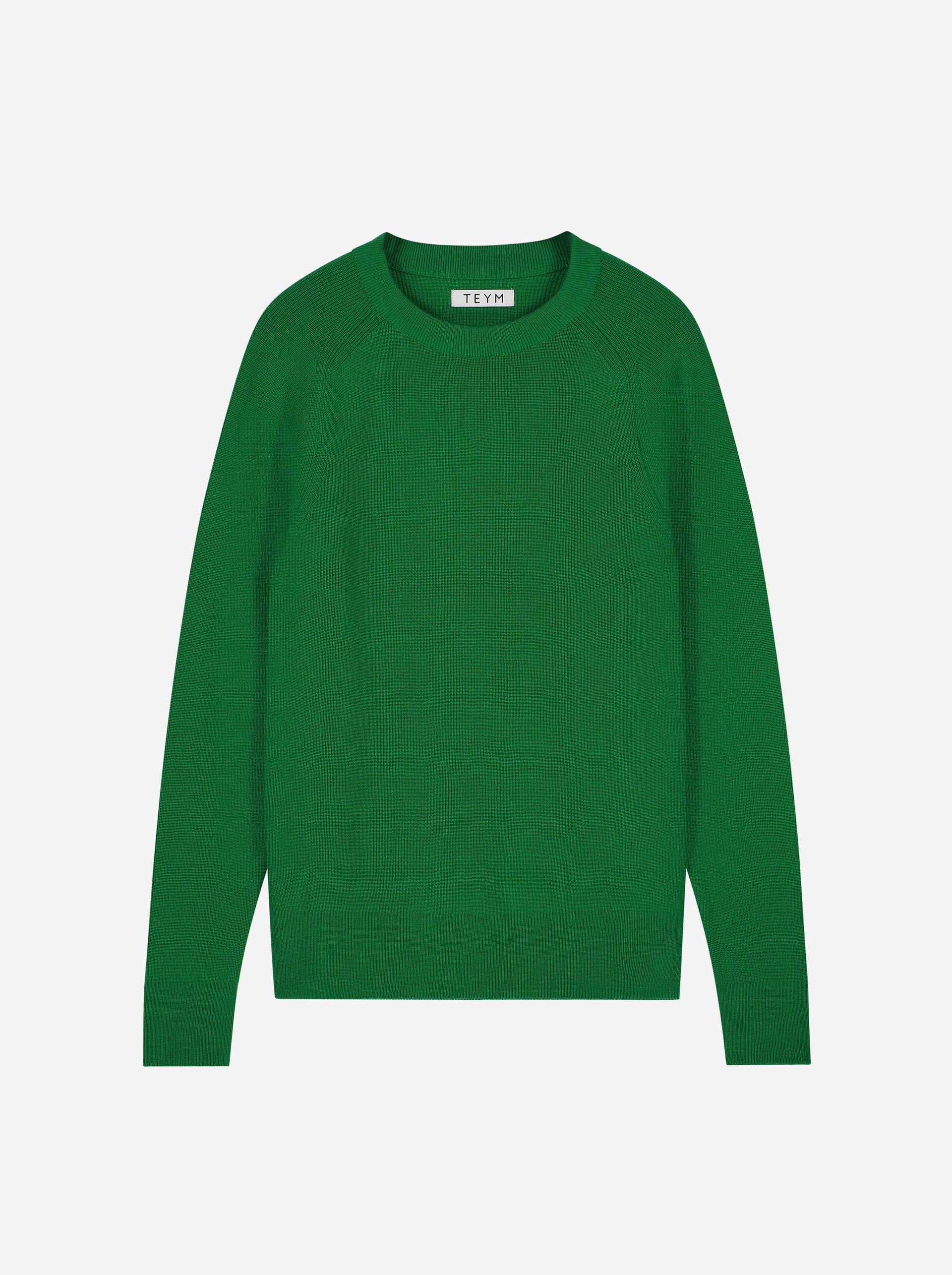 Teym - The Merino Sweater - Men - Bright Green - 4