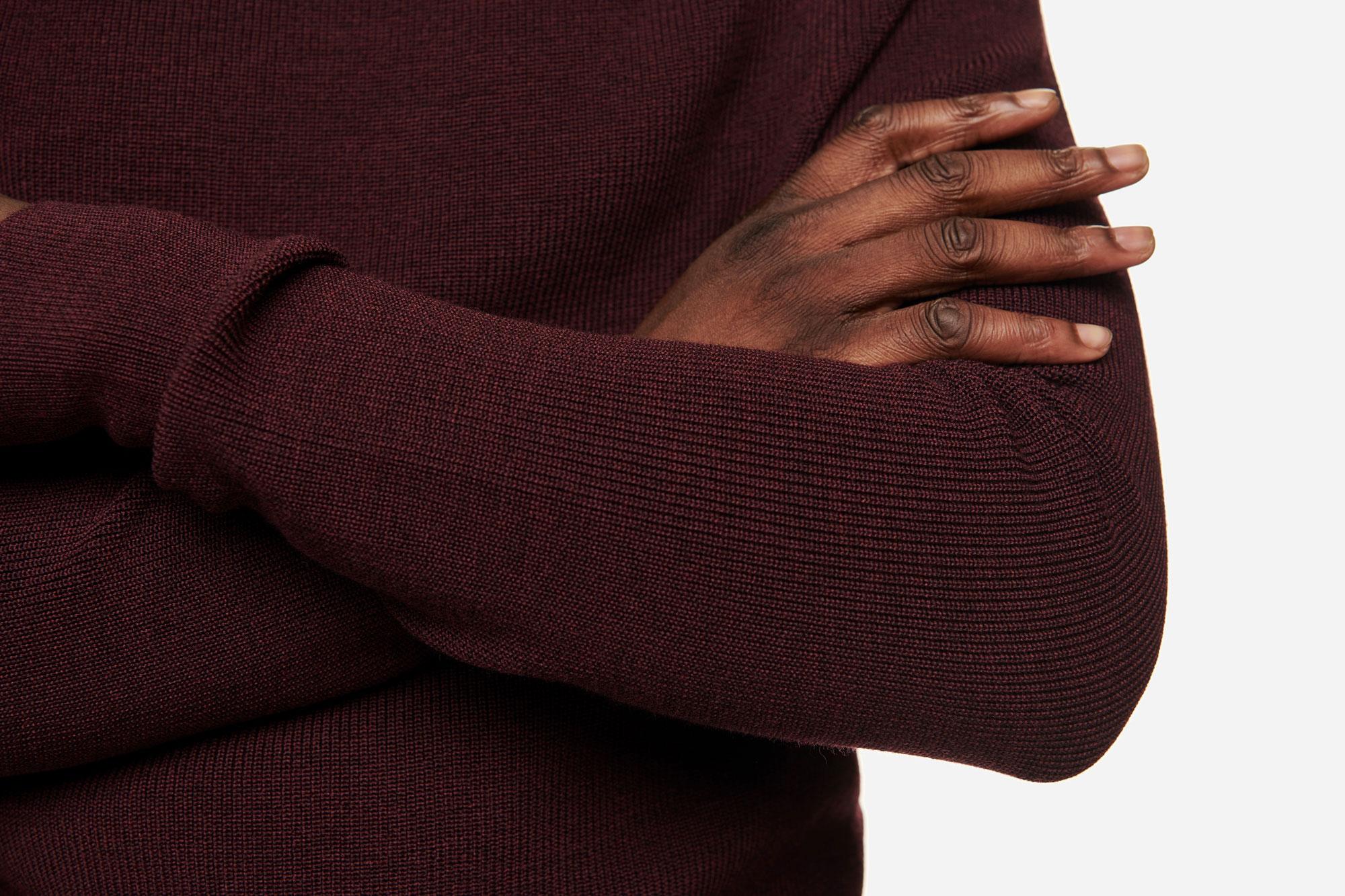Teym - The Merino Sweater - Men - Burgundy - 3