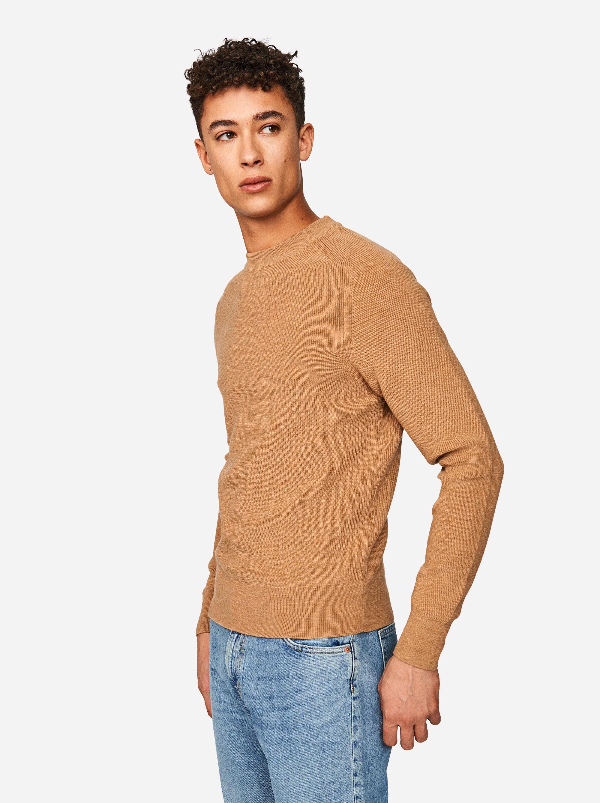 Teym - The Merino Sweater - Men - Camel - 1