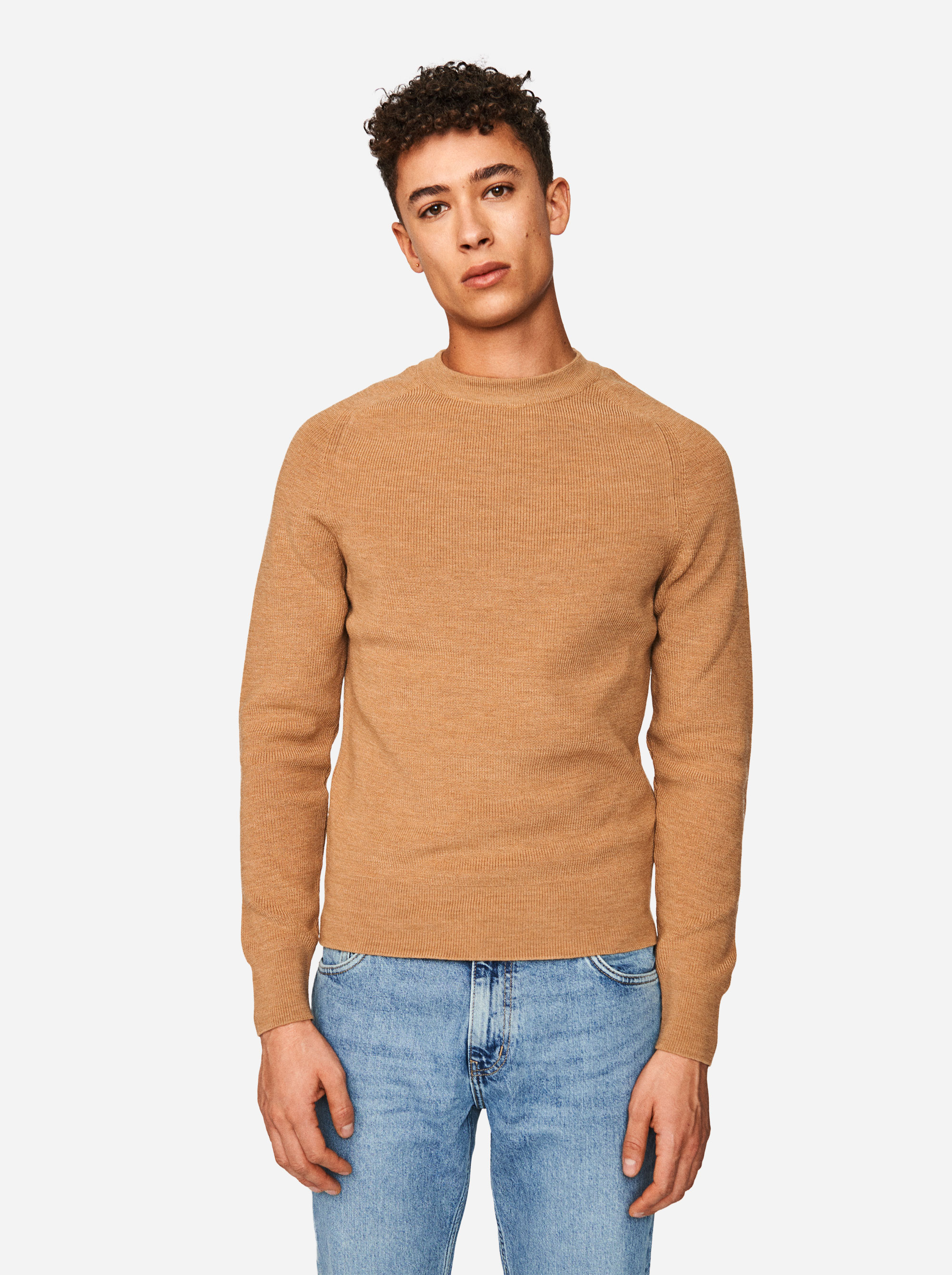 Teym - The Merino Sweater - Men - Camel - 3
