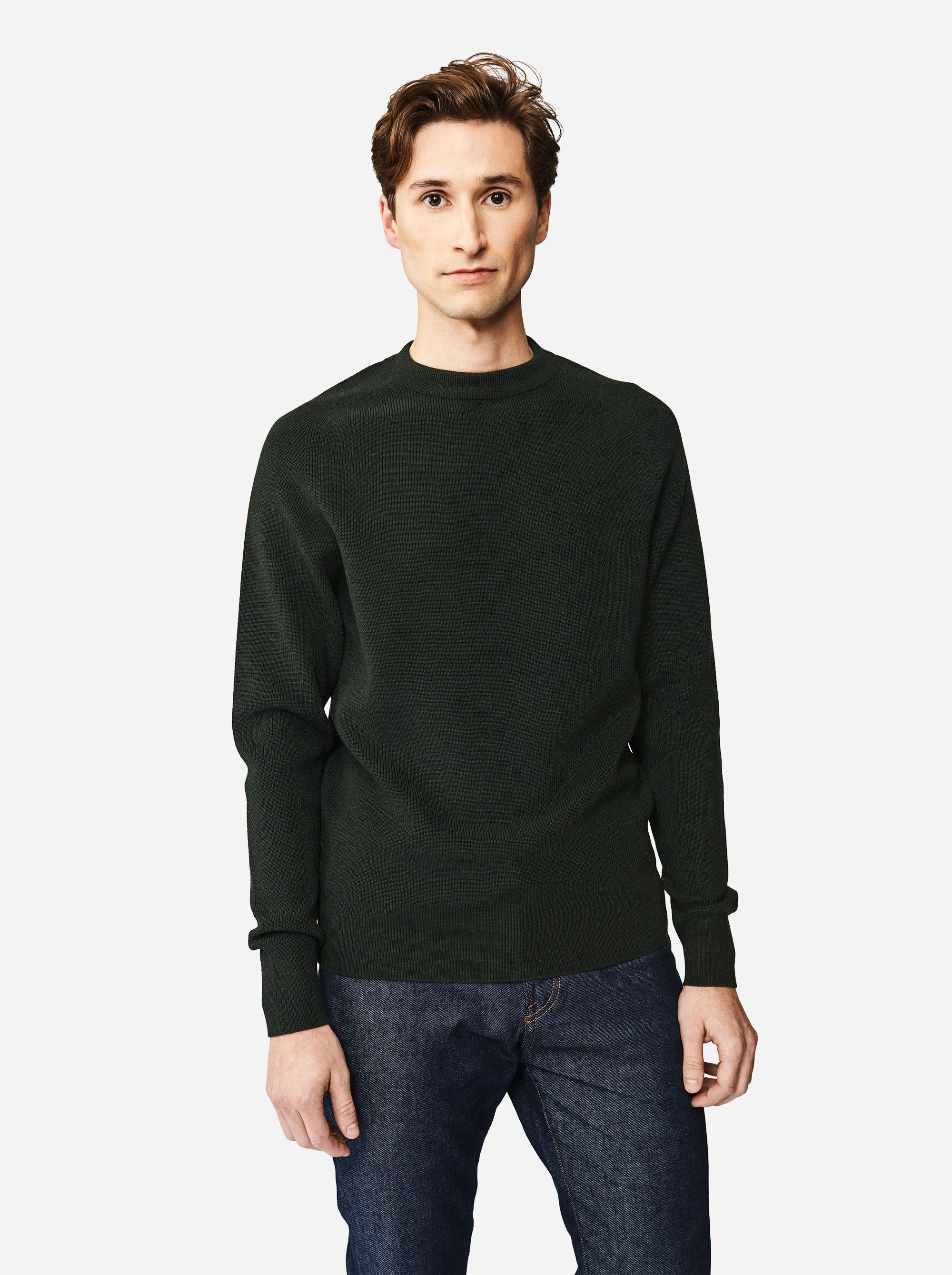 Teym - The Merino Sweater - Men - Green - 3