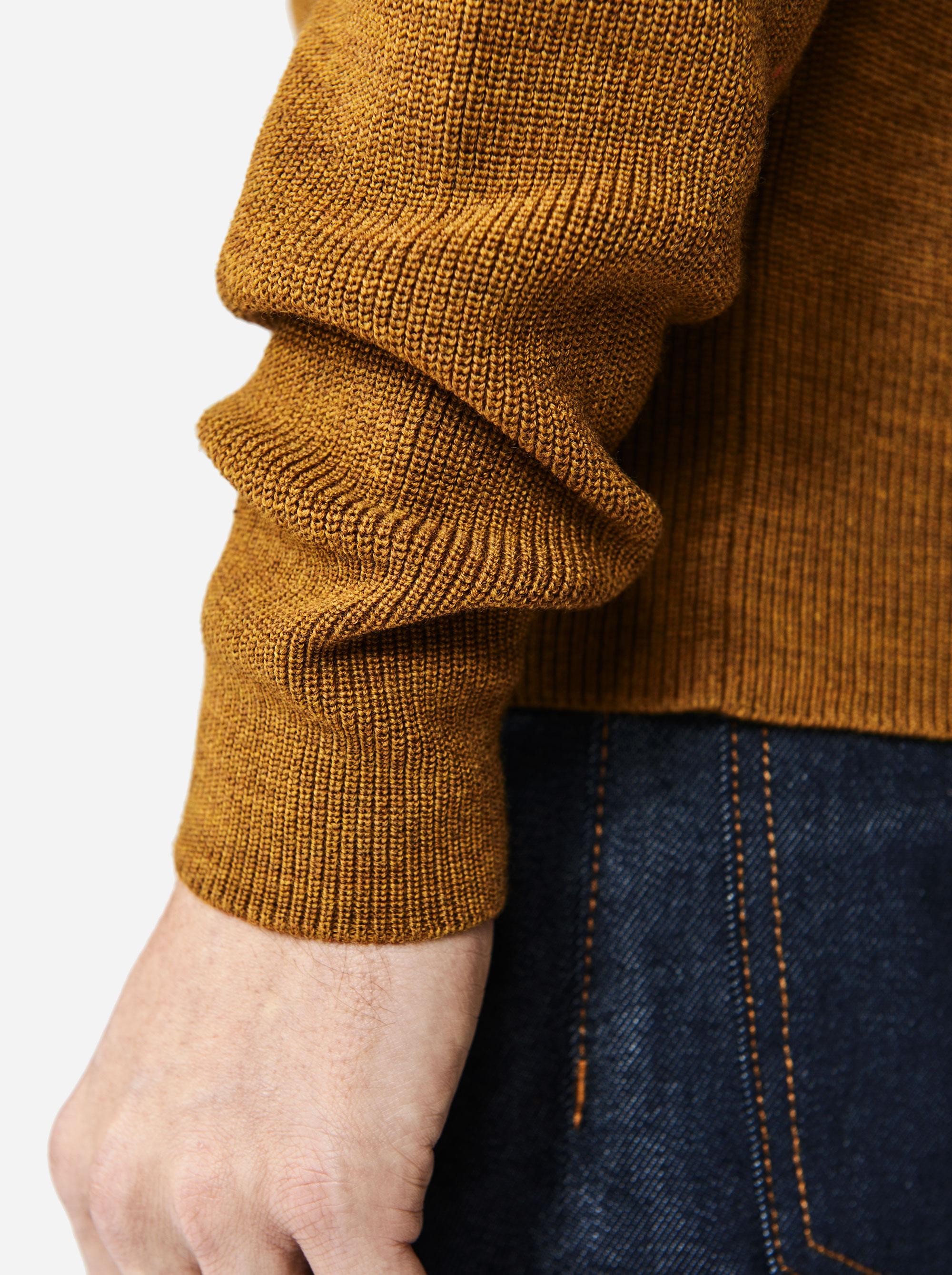 Teym - The Merino Sweater - Men - Mustard - 2