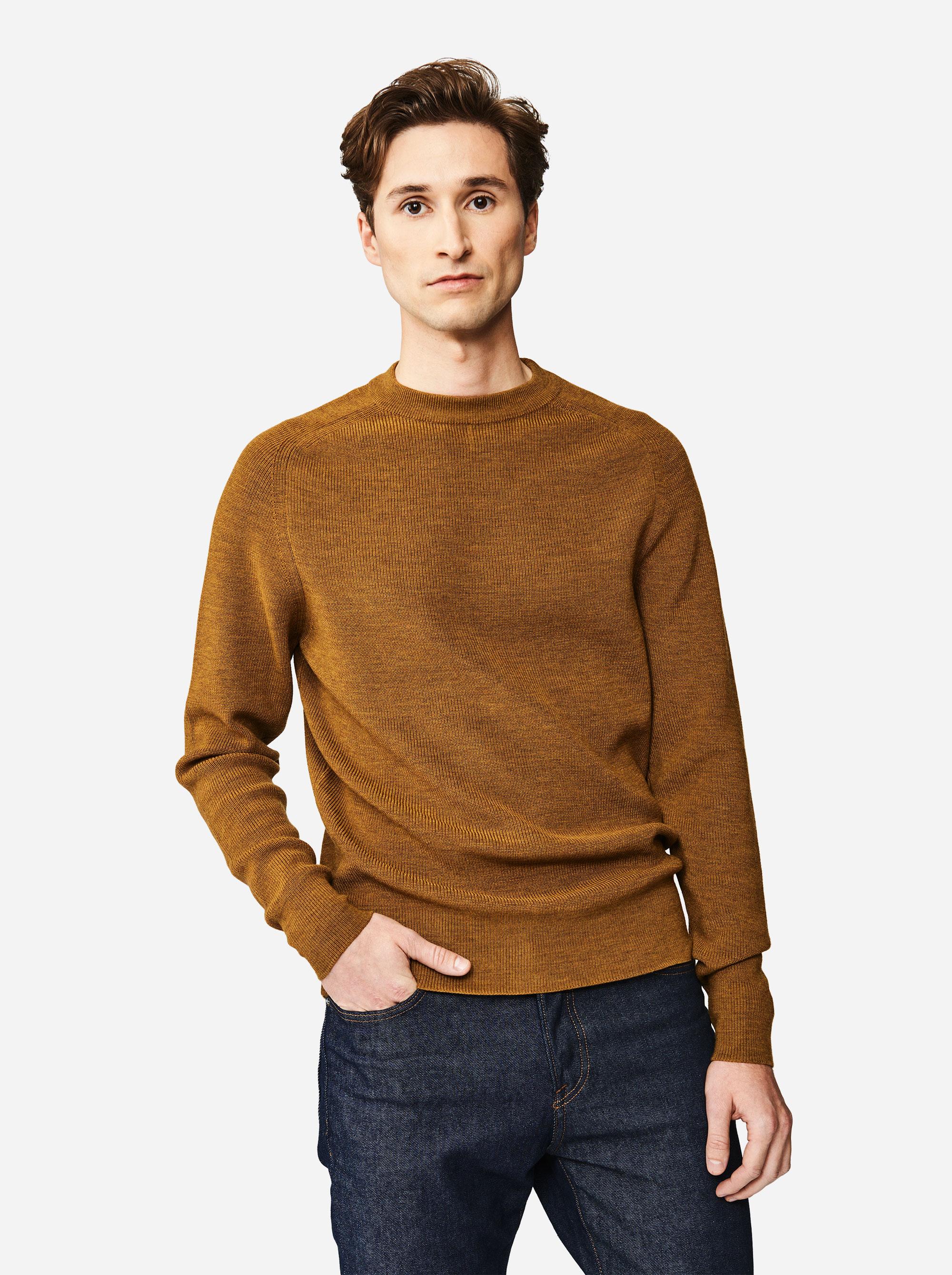 Teym - The Merino Sweater - Men - Mustard - 3