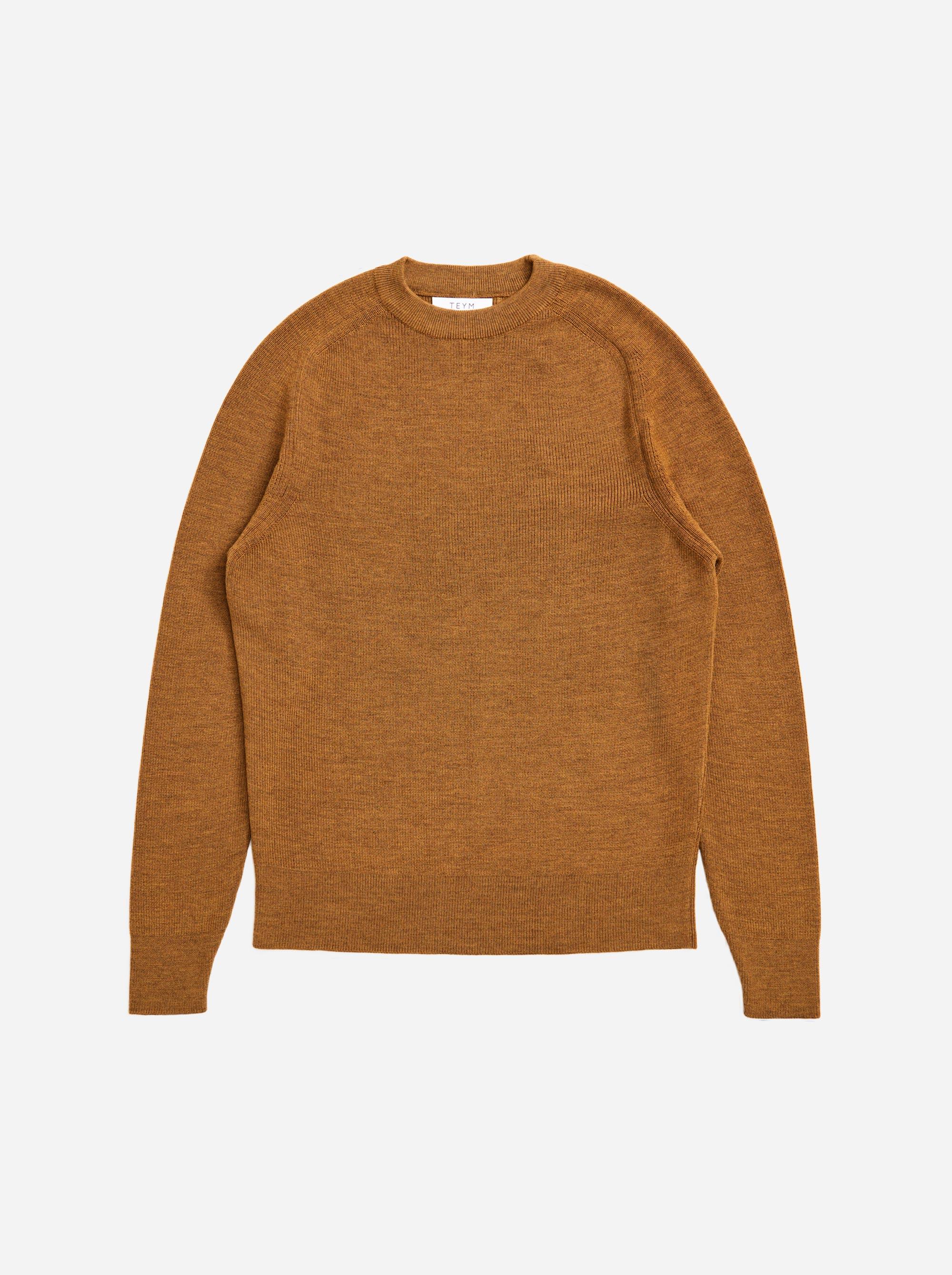 Teym - The Merino Sweater - Men - Mustard - 4