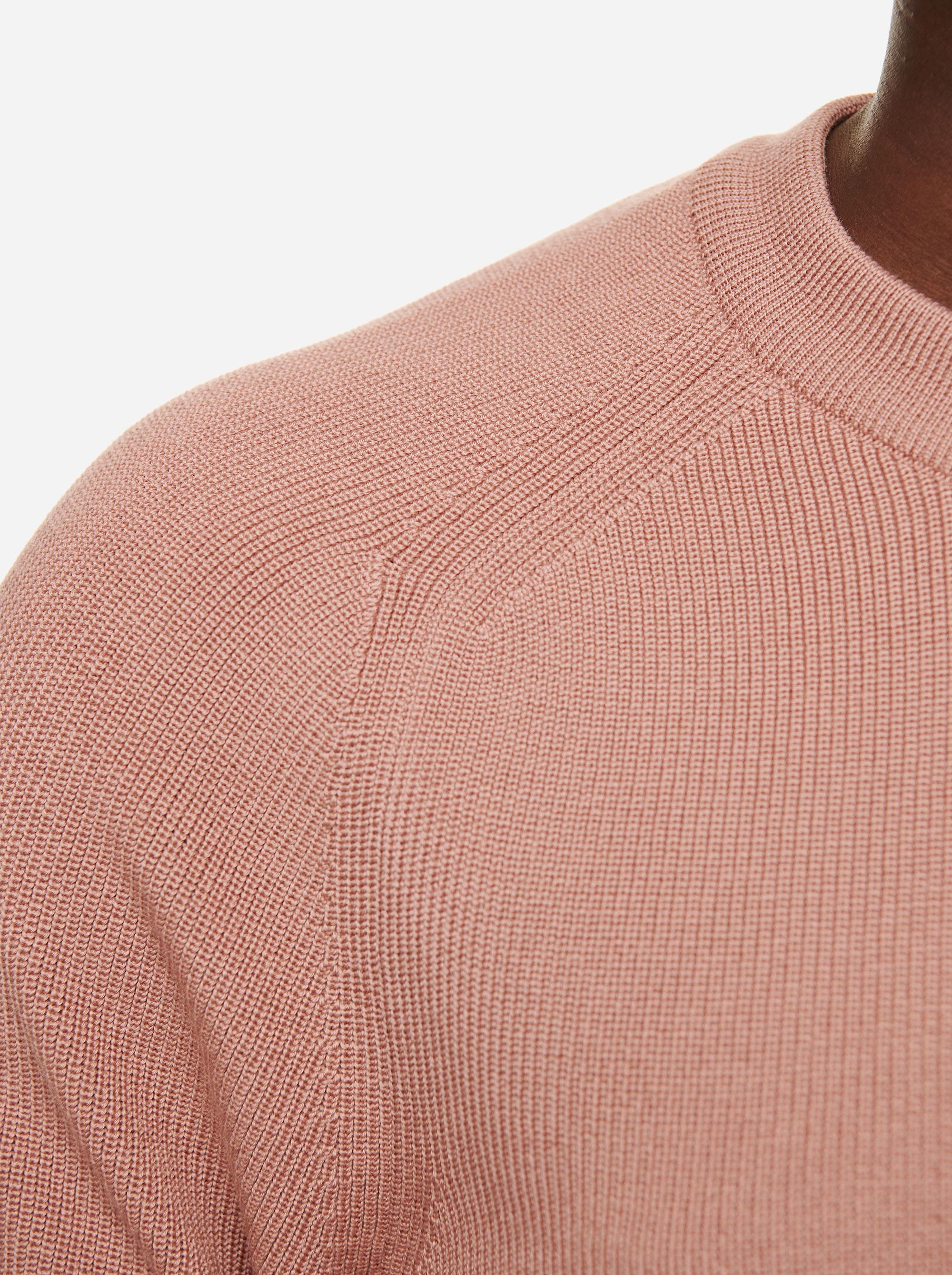 Teym - The Merino Sweater - Men - Pink - 3