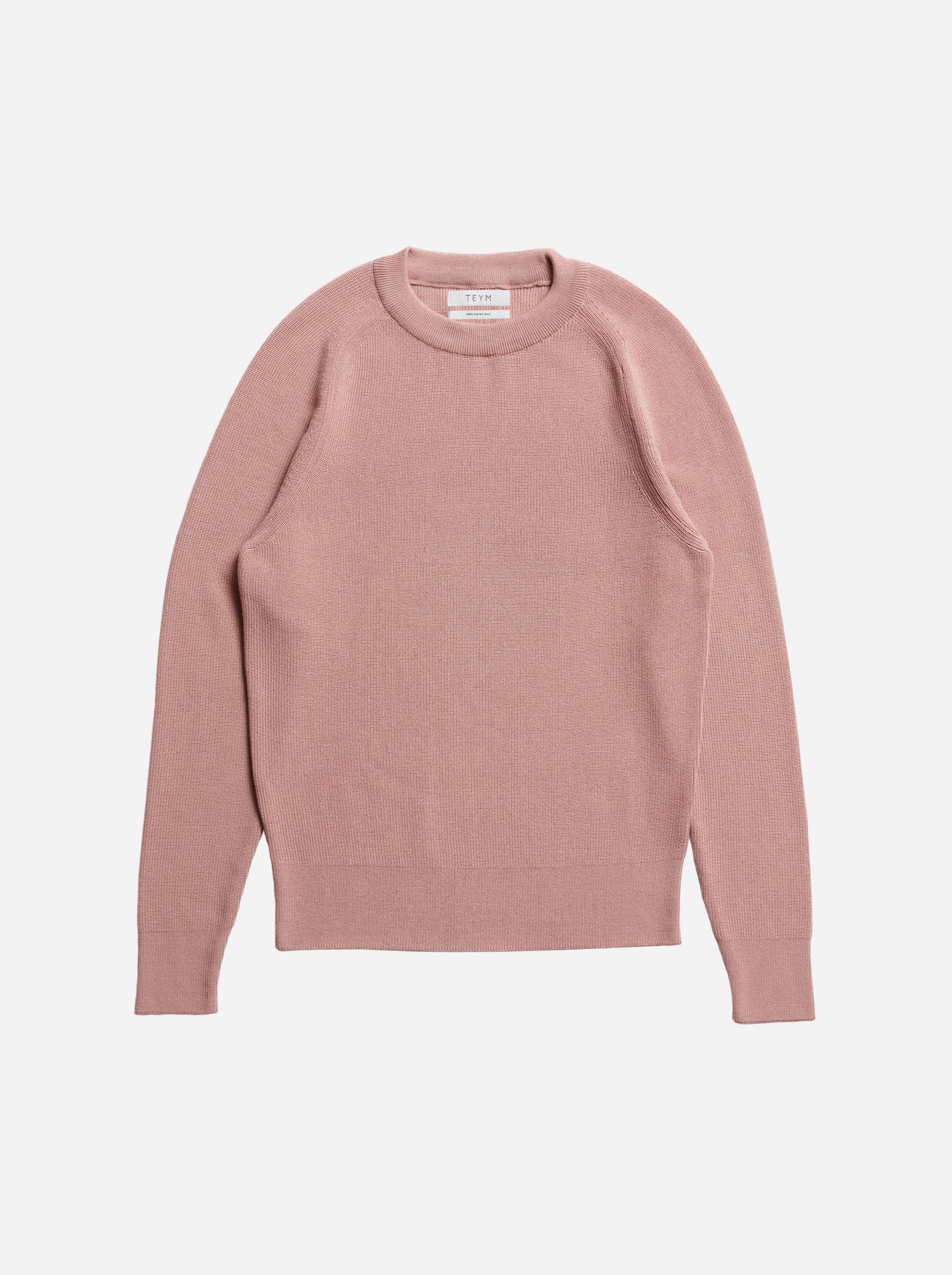 Teym - The Merino Sweater - Men - Pink - 5