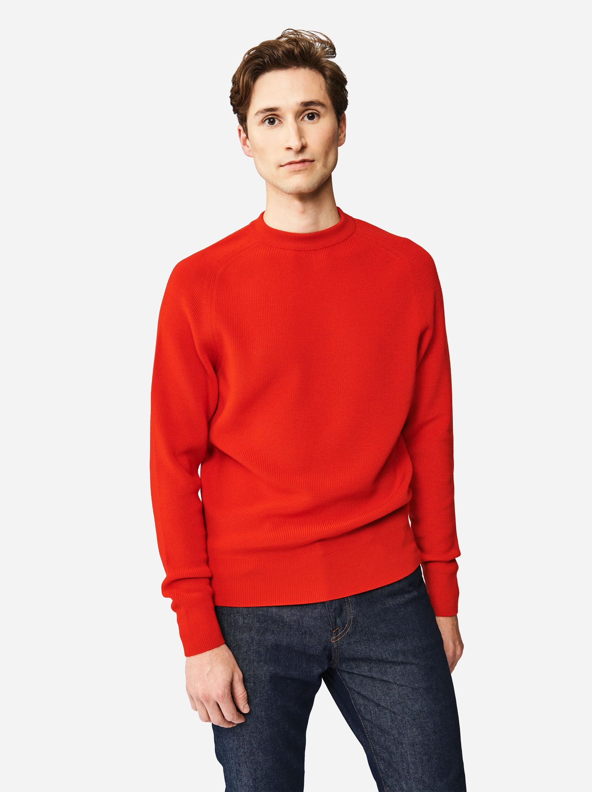Teym - The Merino Sweater - Men - Red - 1