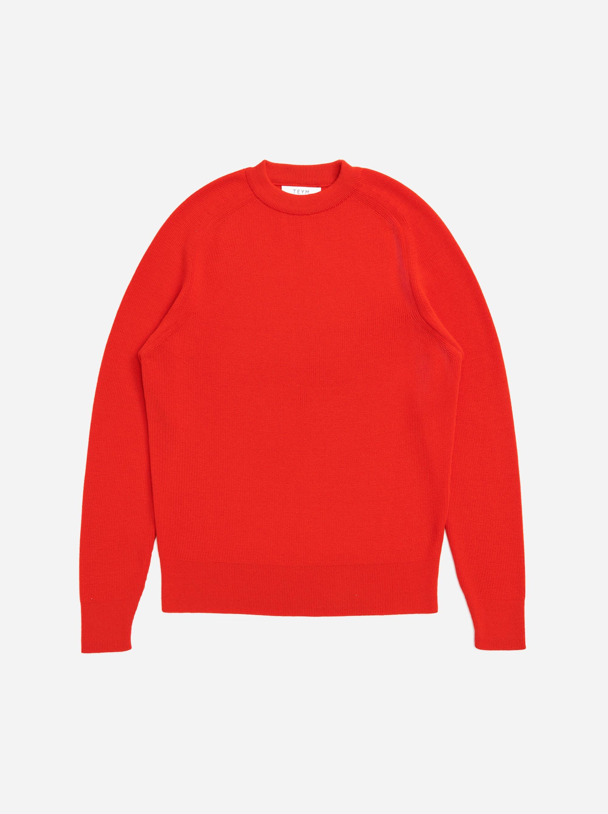 Teym - The Merino Sweater - Men - Red - 5