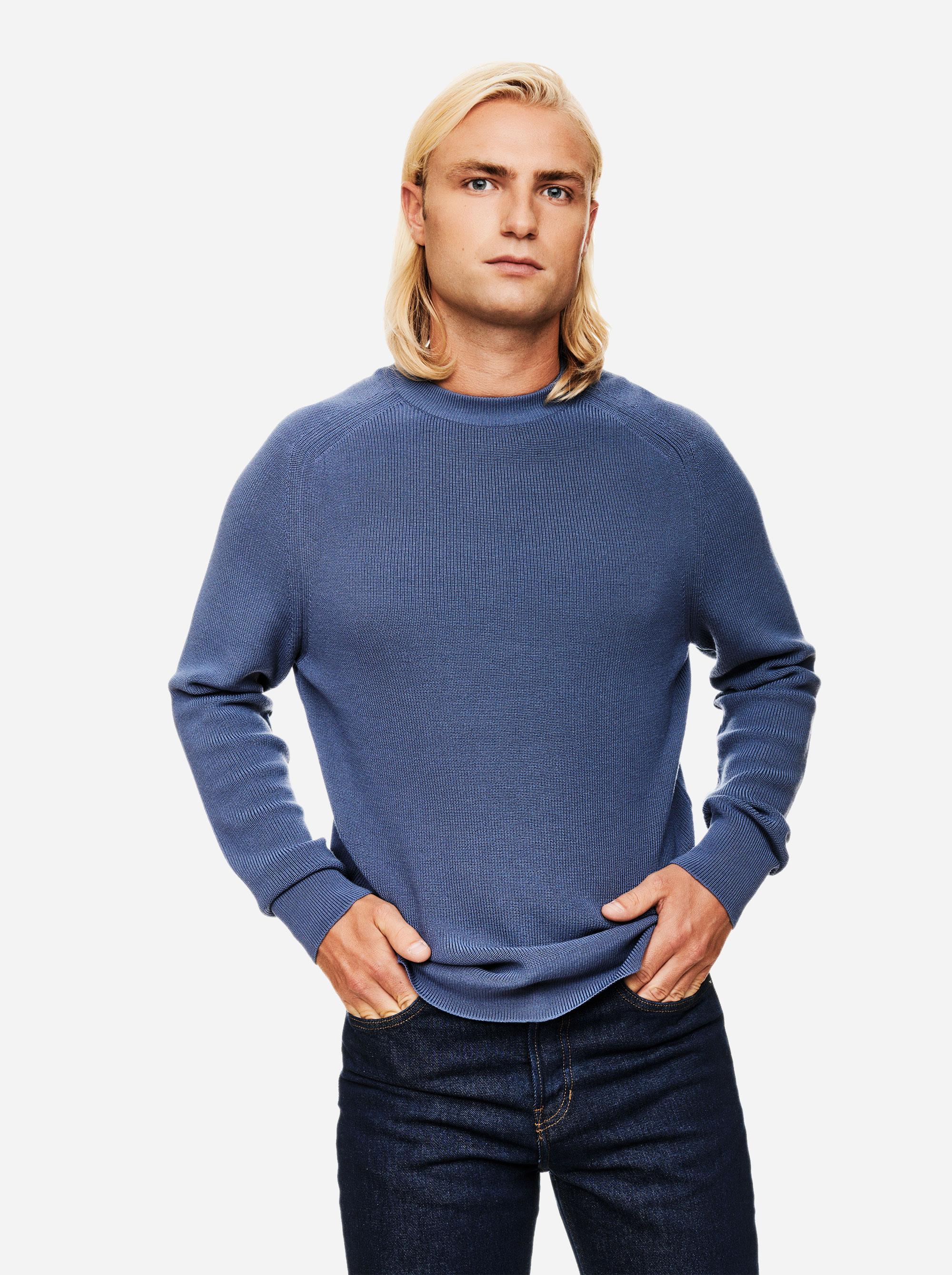 Teym - The Merino Sweater - Men - Sky blue - 2