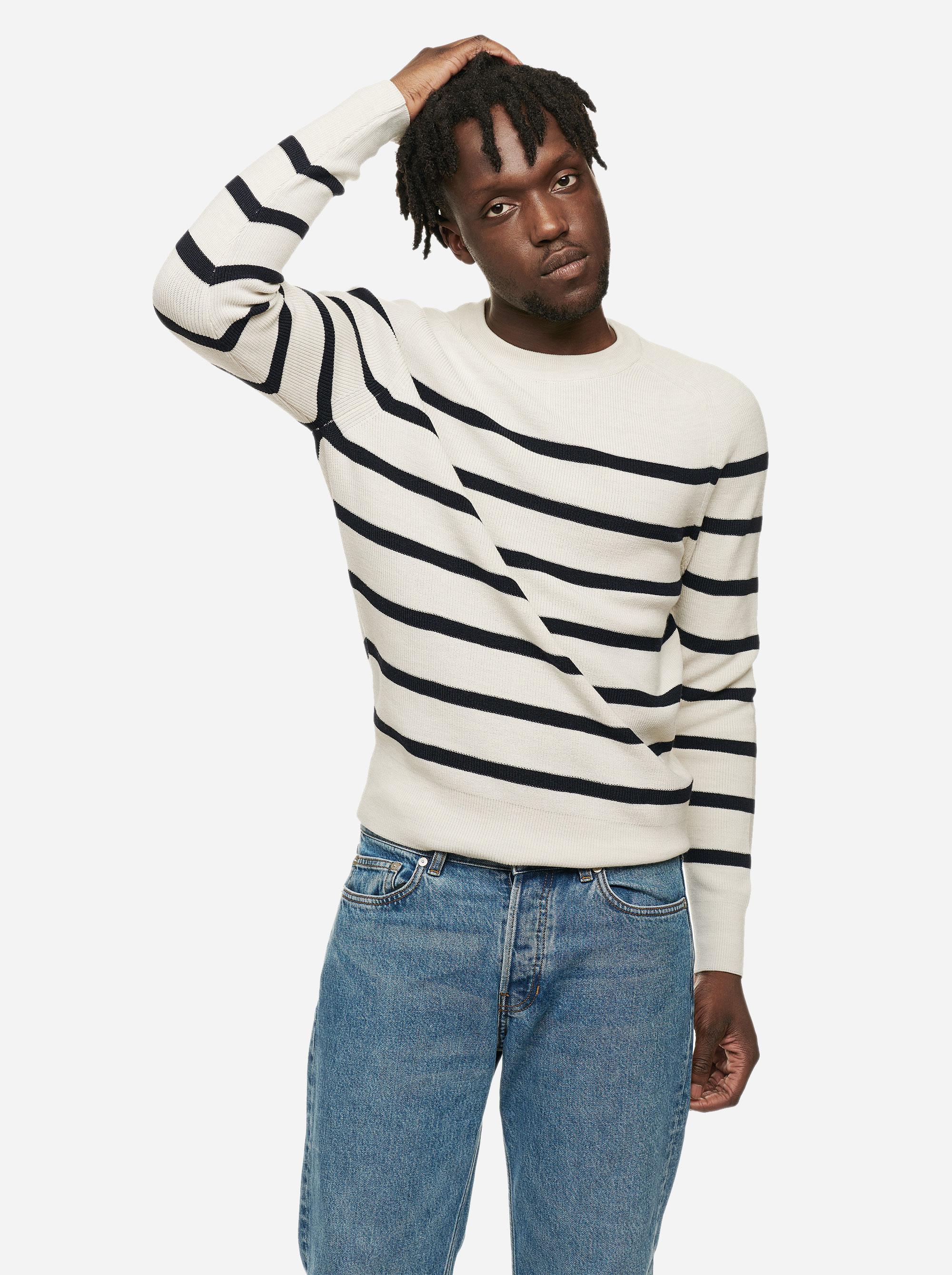 Teym - The Merino Sweater - Men - Striped - 1