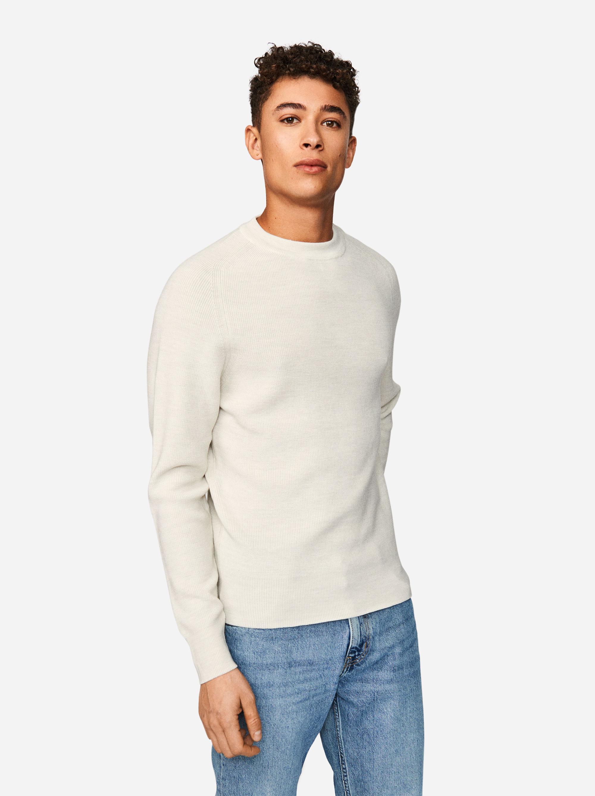 Teym - The Merino Sweater - Men - White - 1