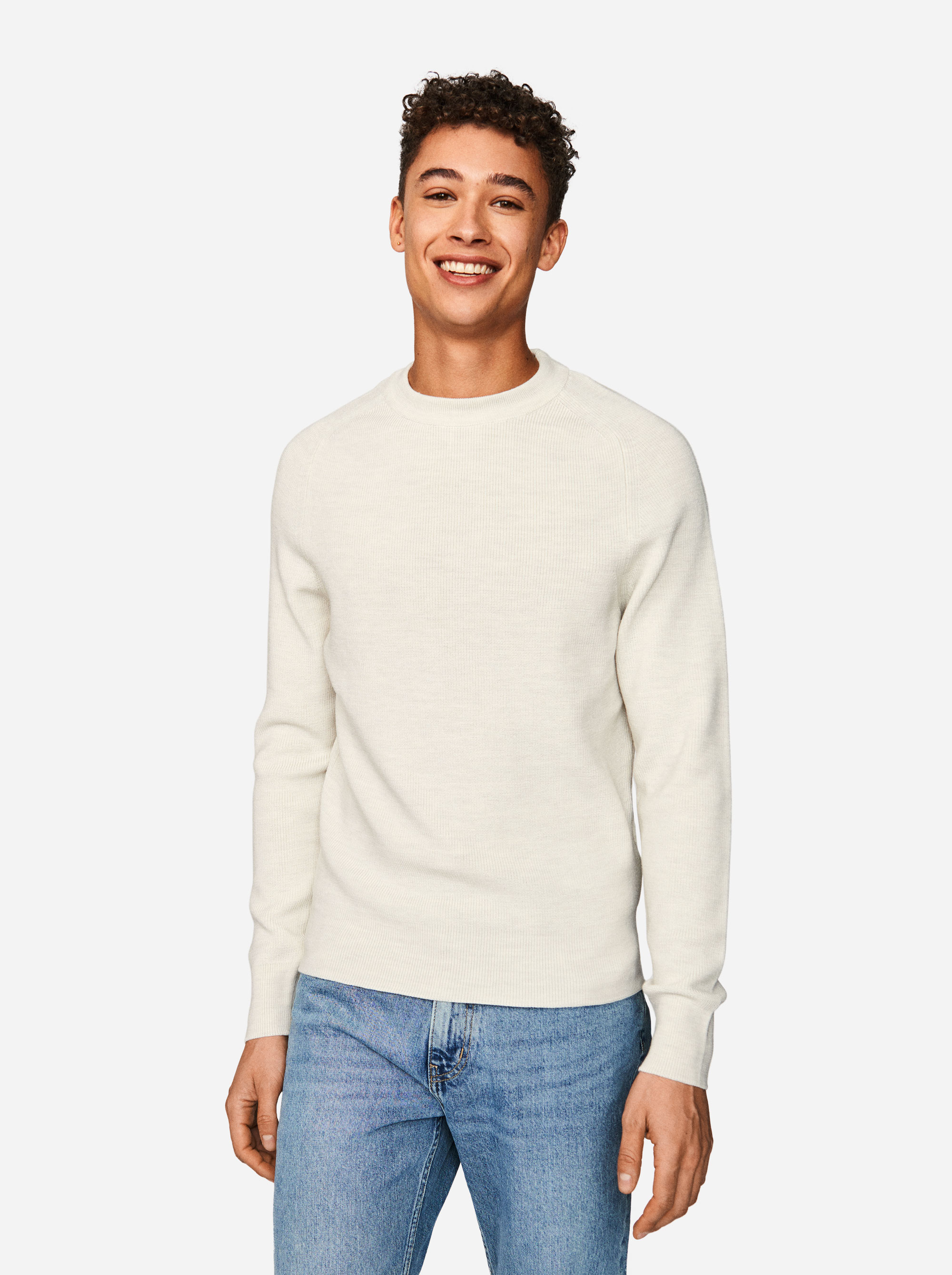 Teym - The Merino Sweater - Men - White - 4
