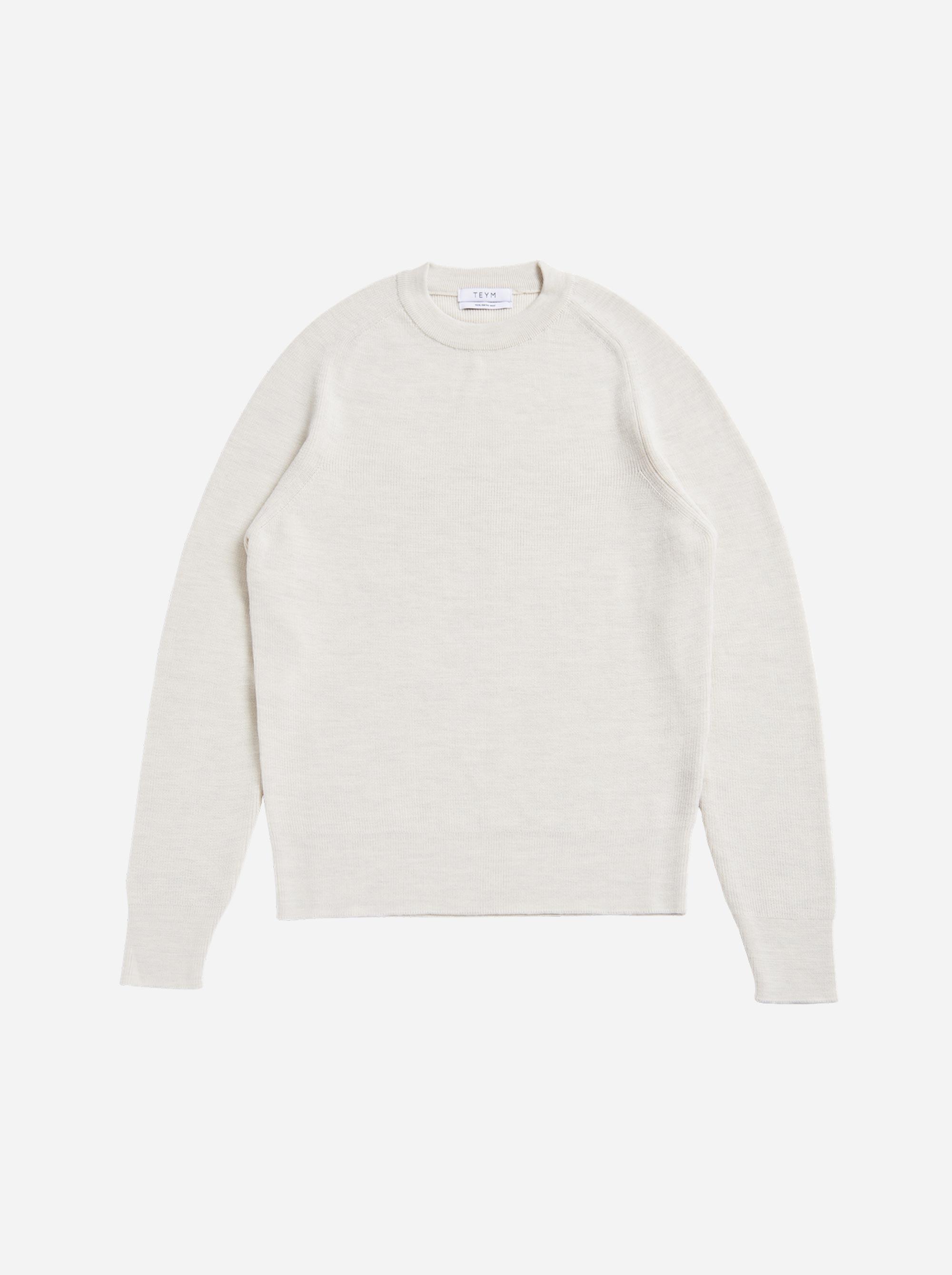 Teym - The Merino Sweater - Men - White - 5
