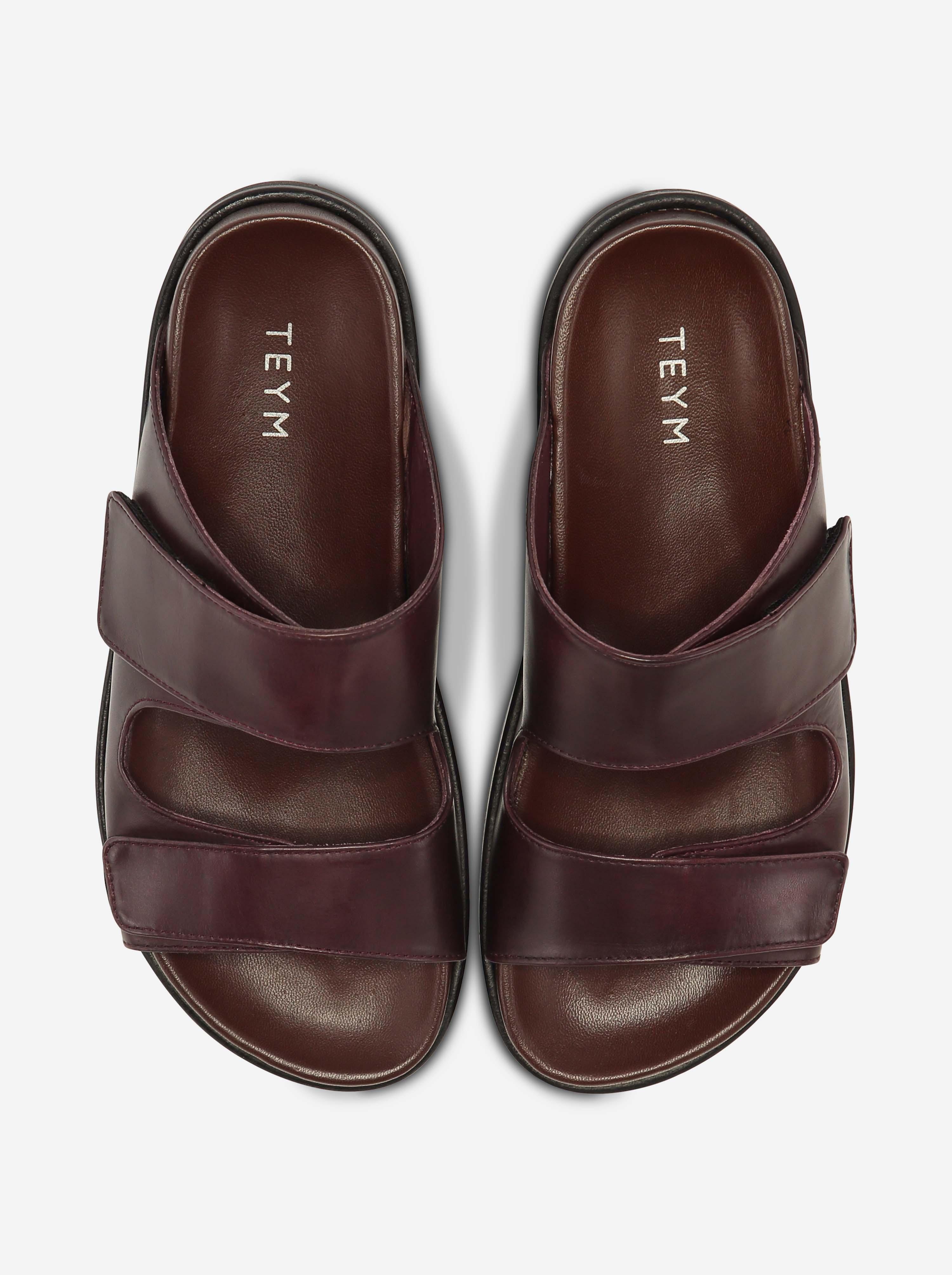 Teym - The Sandal - Burgundy - 4