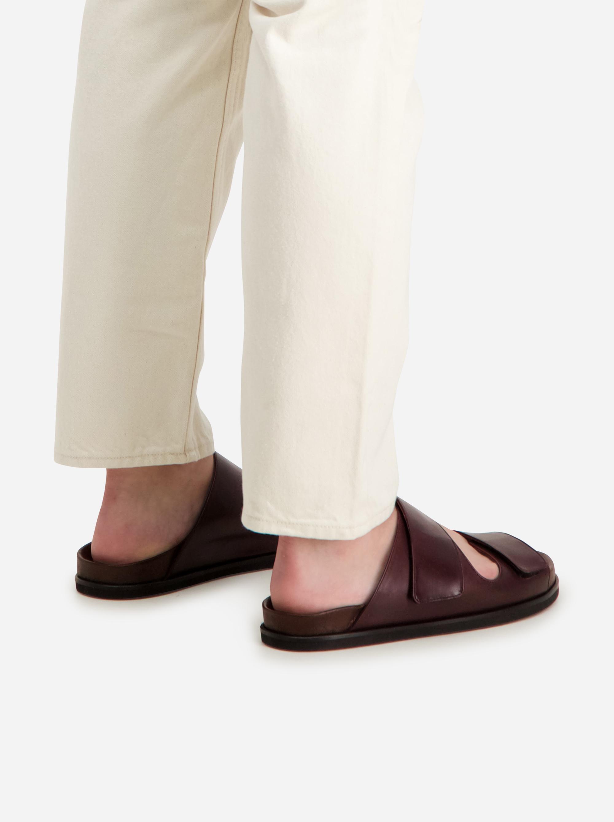 Teym - The Sandal - Burgundy - Men - 1