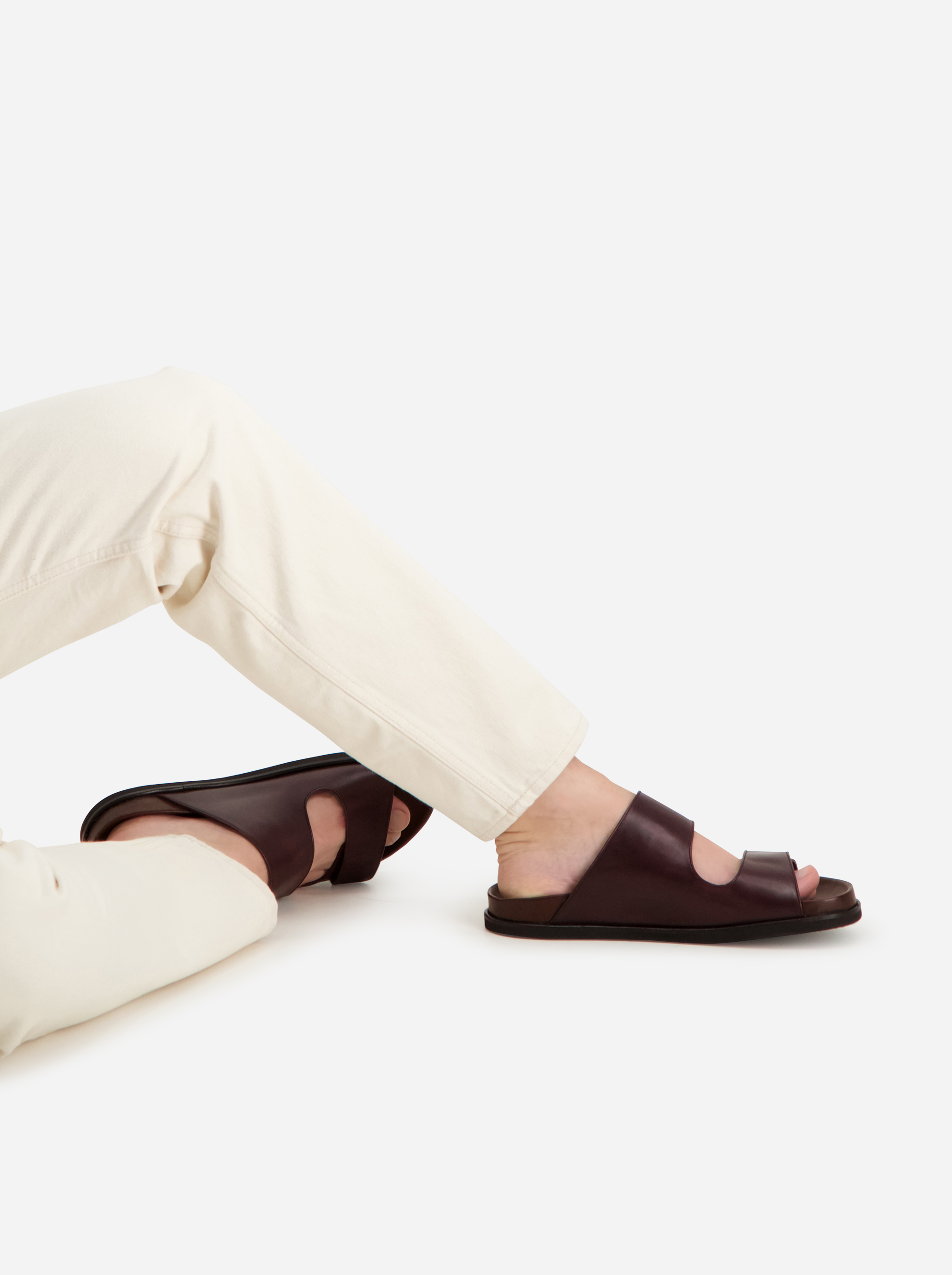Teym - The Sandal - Burgundy - Men - 3