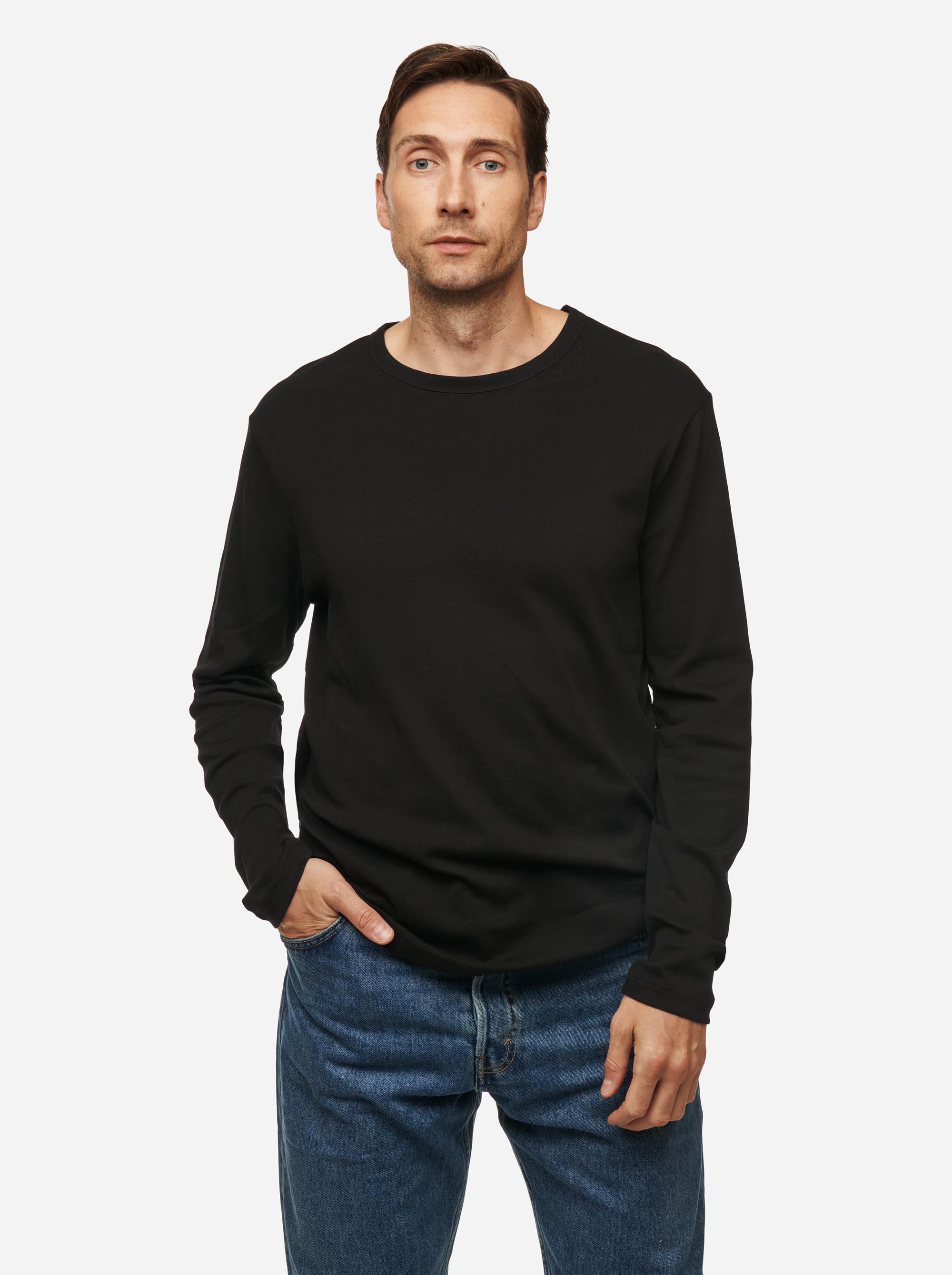 Teym - The-T-Shirt - Longsleeve - Men - Black - 1