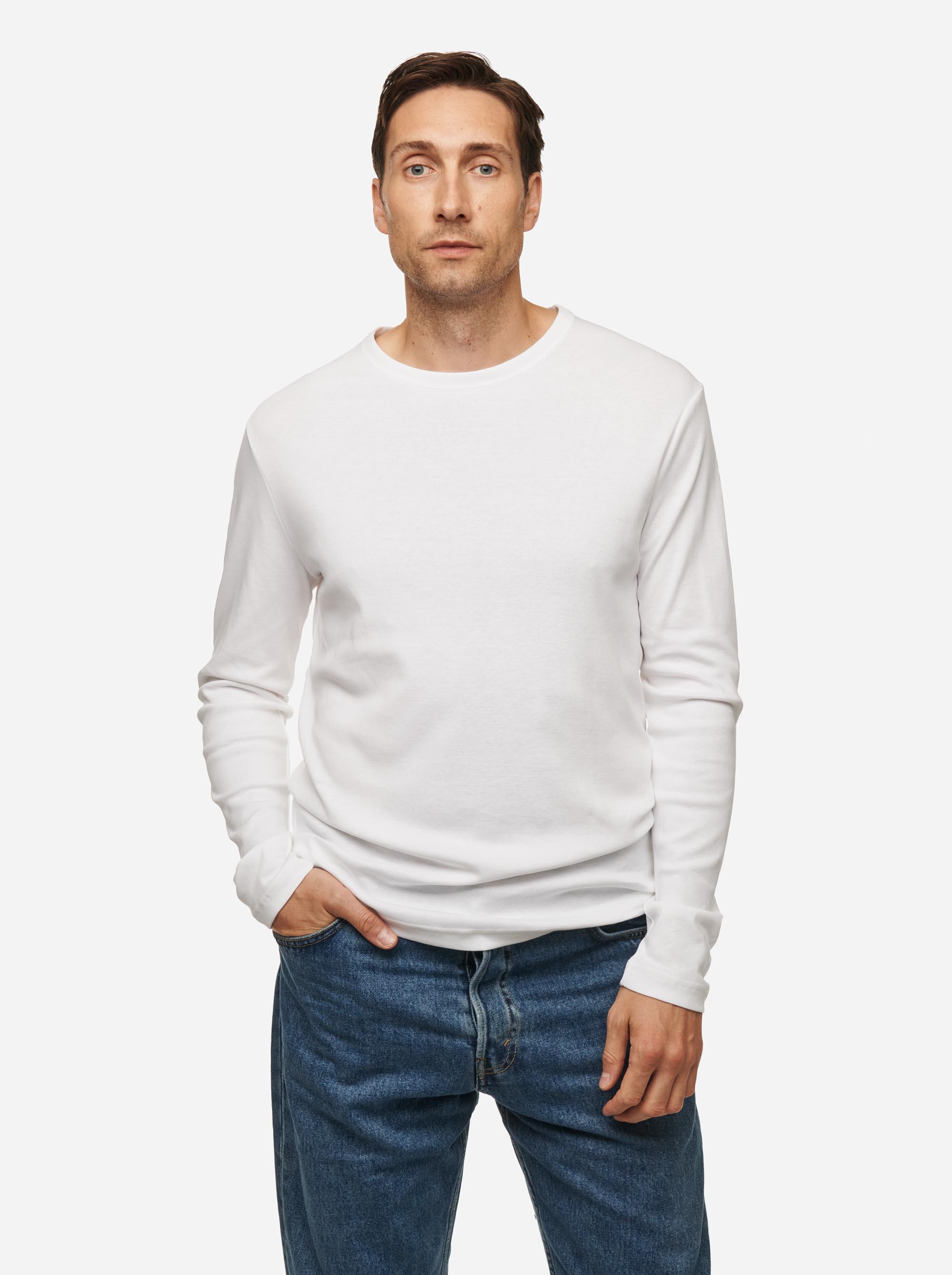 Teym - The-T-Shirt - Longsleeve - Men - White - 2