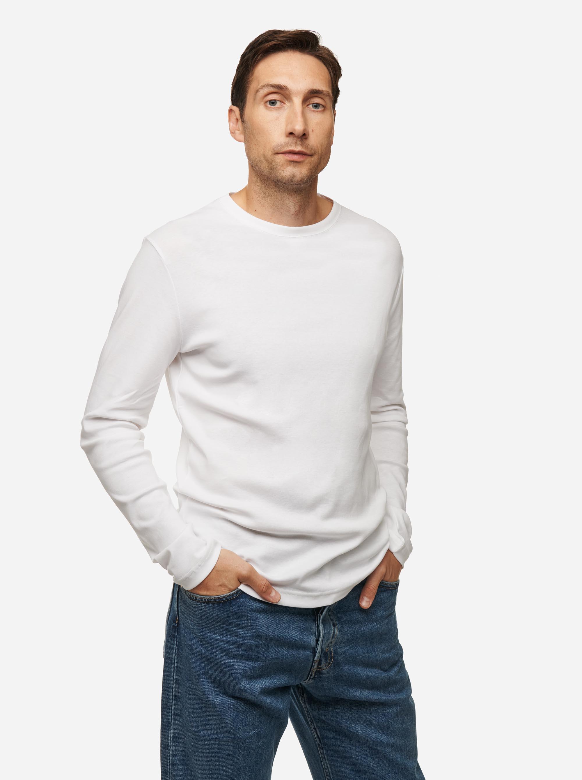 Teym - The-T-Shirt - Longsleeve - Men - White - 3